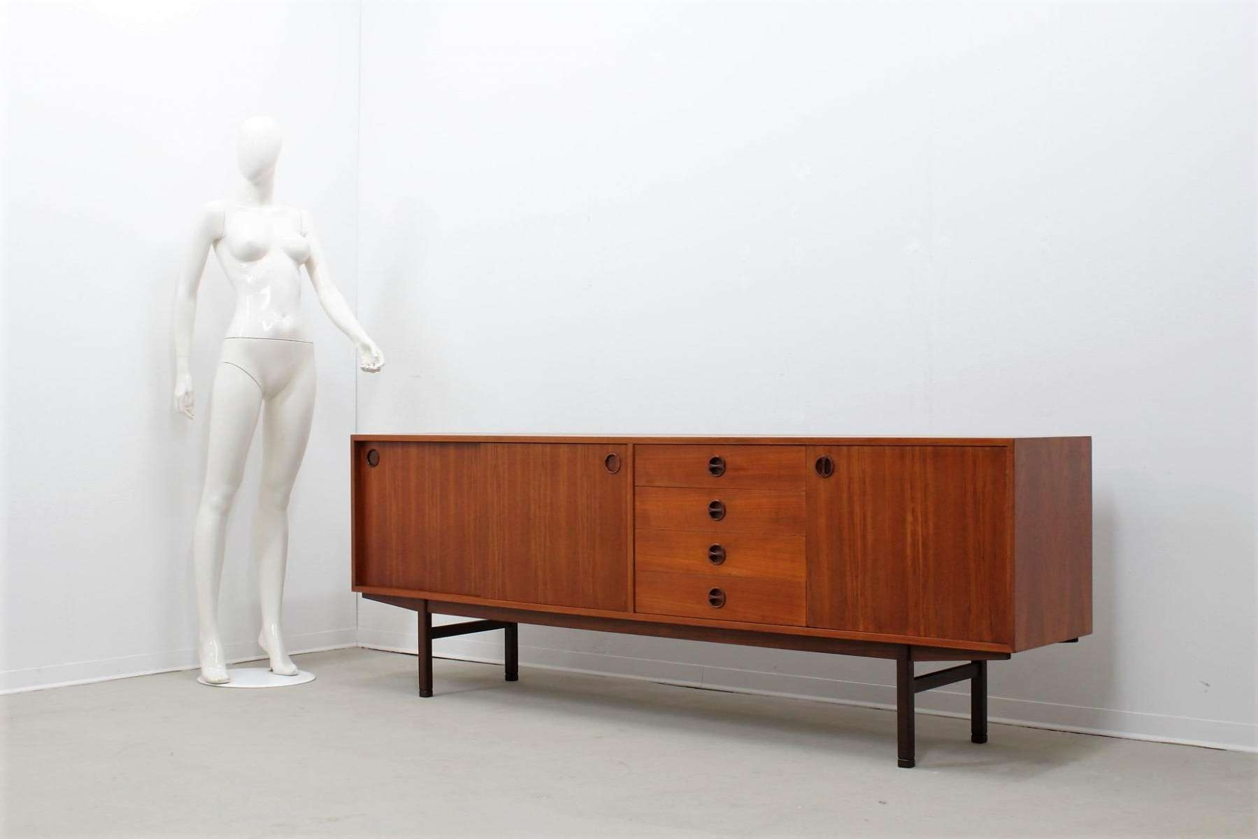 Mid Century Teak Sideboard, 1950s For Sale At Pamono In Midcentury Sideboards (View 9 of 20)