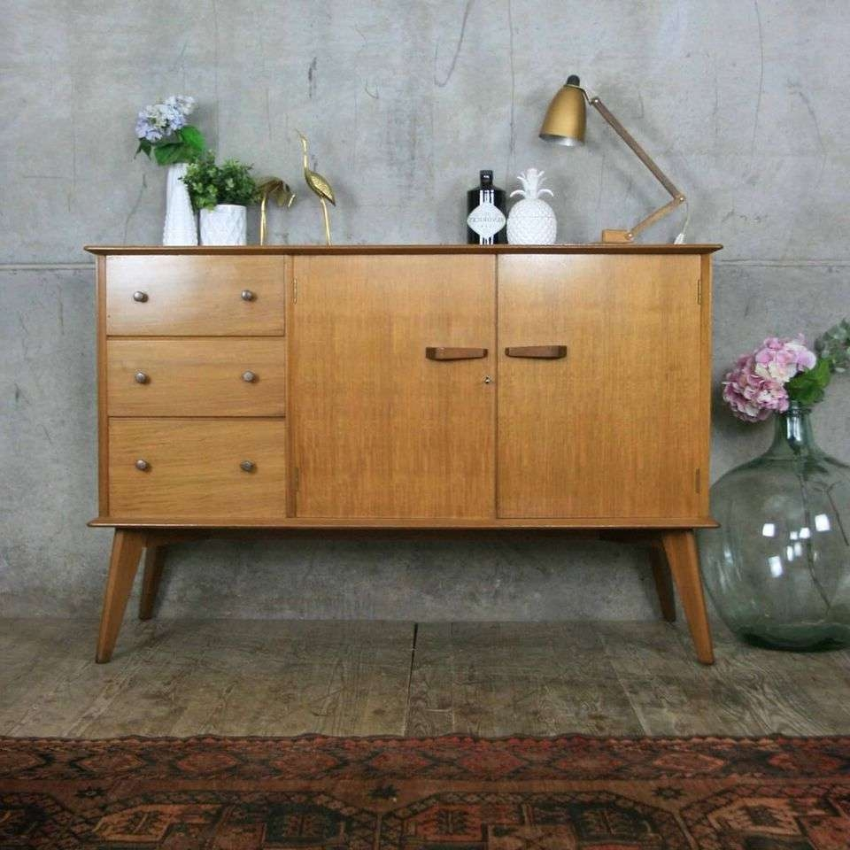 Mid Century Vintage Walnut Sideboard Pedlars Pertaining To Mid Century Sideboards (View 11 of 20)