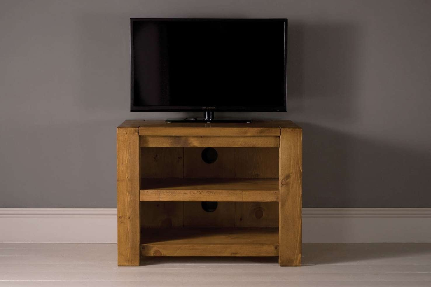 Midi Plank Beam Tv Cabinet With Shelfindigo Furniture Inside Small Tv Cabinets (View 8 of 20)
