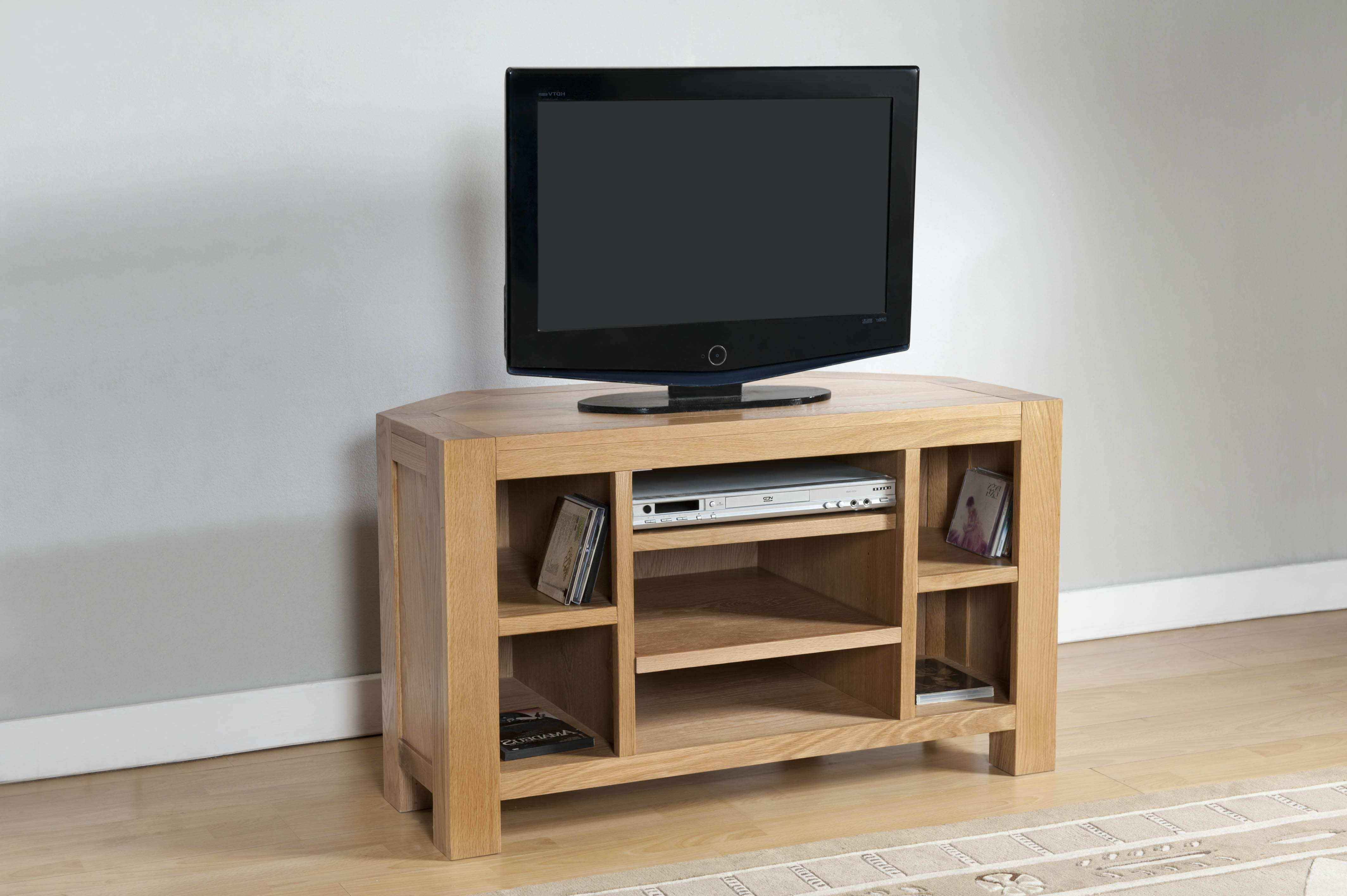 Milano Oak Corner Tv Unit | Oak Furniture Solutions Pertaining To Oak Corner Tv Cabinets (View 9 of 20)