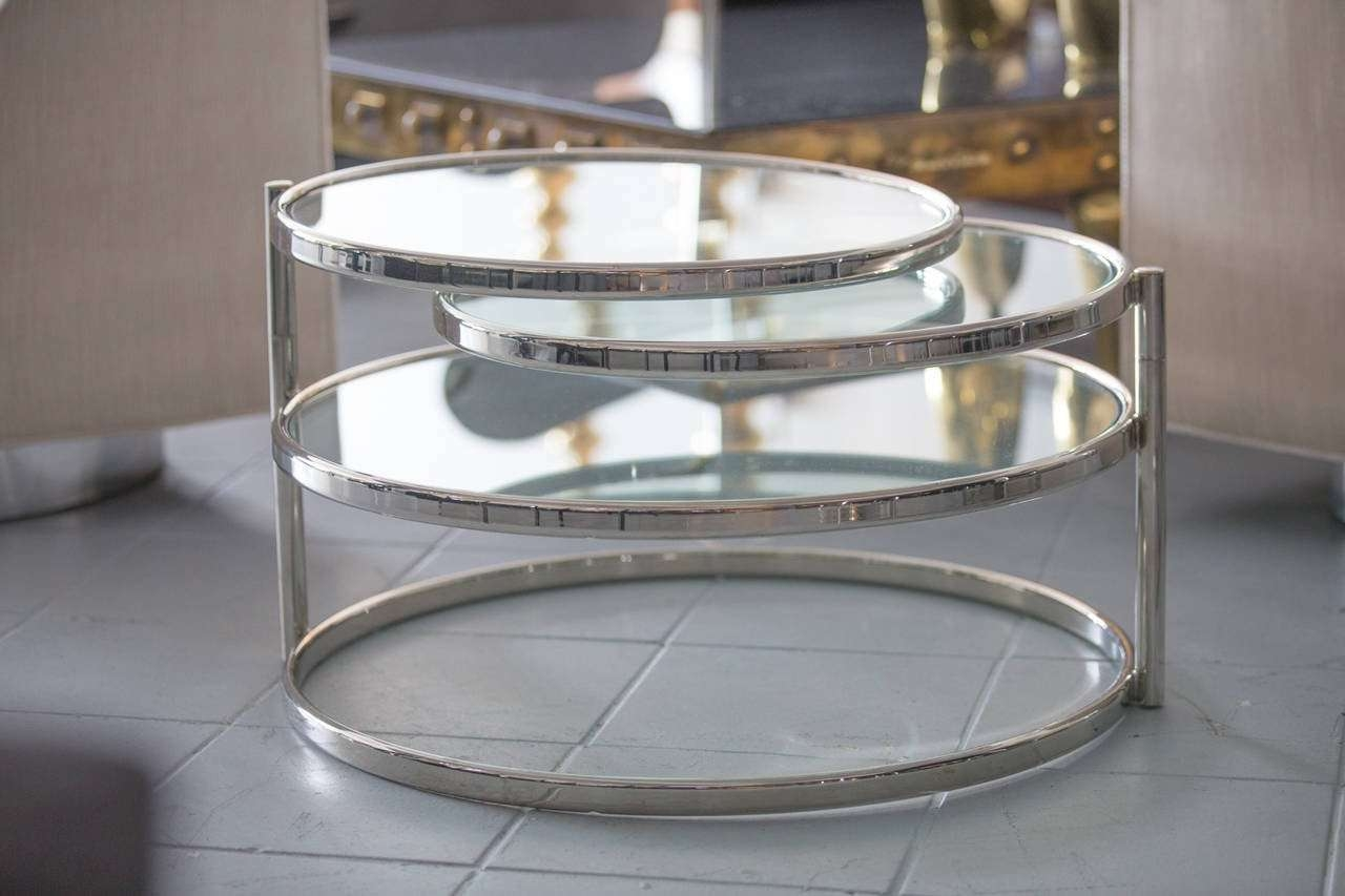Milo Baughman Swivel Coffee Table At 1Stdibs In Most Current Swivel Coffee Tables (View 8 of 20)