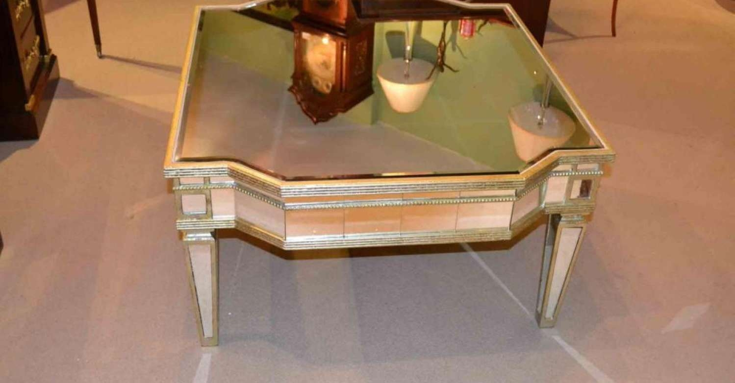 Mirror : Vintage Mirror Coffee Tables Tremendous Vintage Blue Regarding Most Current Vintage Mirror Coffee Tables (View 12 of 20)
