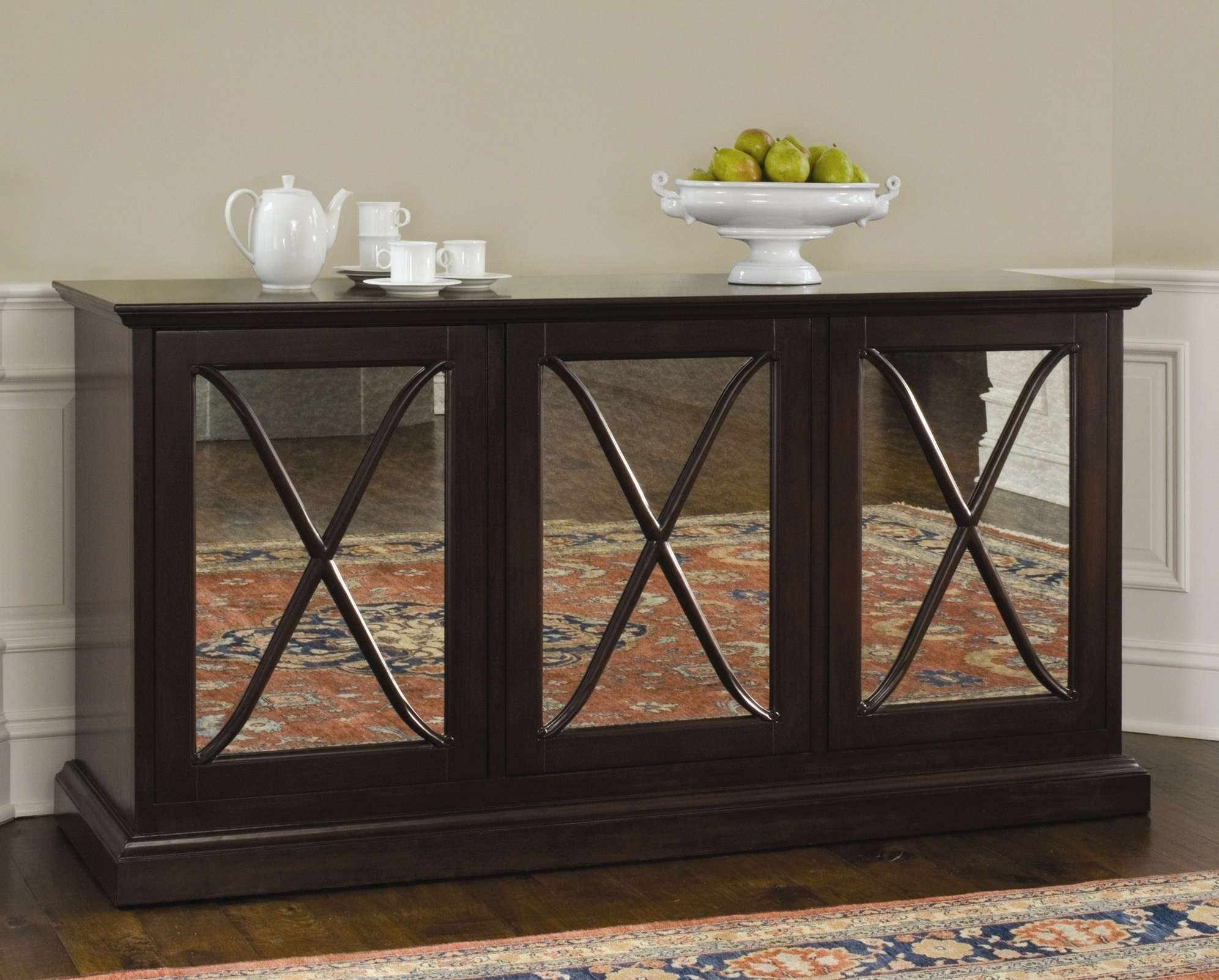 Mirrored Buffet Sideboard Server Credenza 1 – Home Design With Regard To Mirrored Sideboards And Buffets (View 11 of 20)