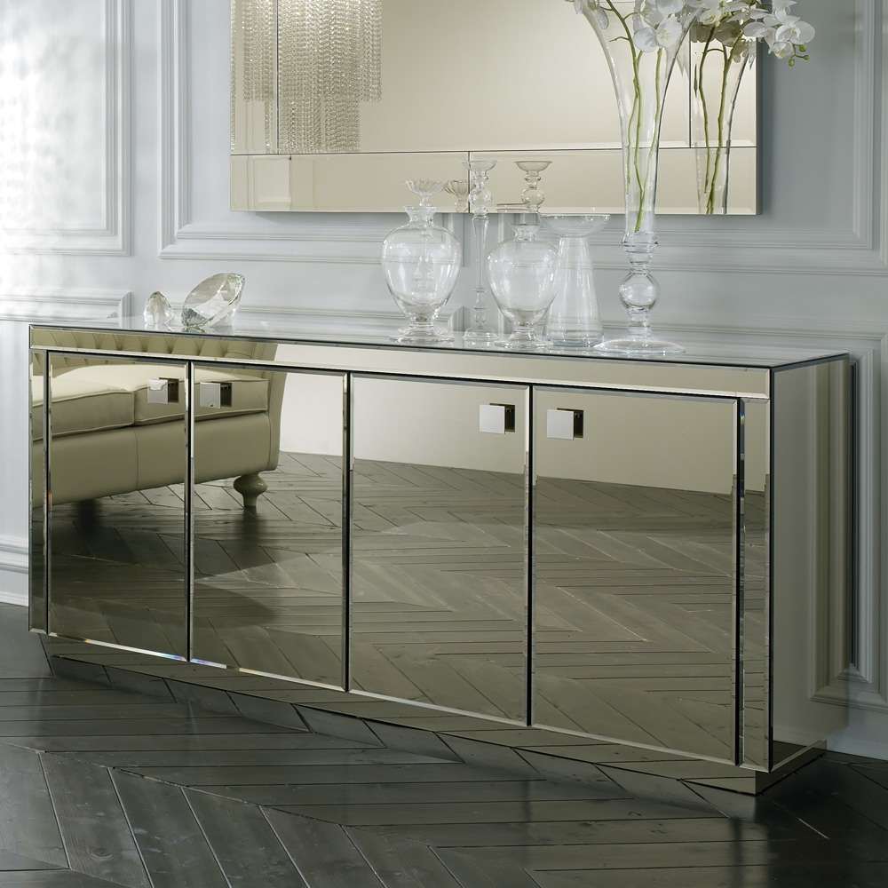 Mirrored Buffet Table — New Home Design : Mirrored Buffet For Throughout Mirrored Sideboards And Buffets (View 12 of 20)