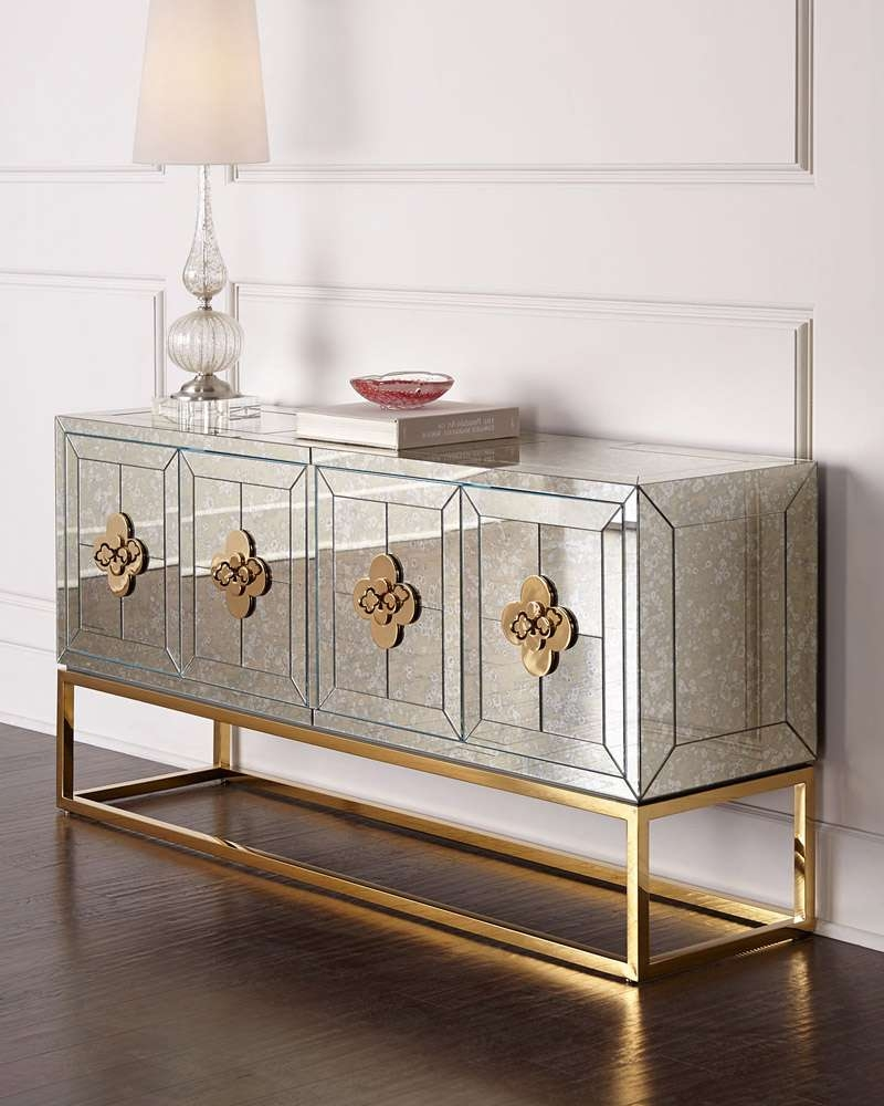 Mirrored Sideboard & Buffet Tables You'll Love | Wayfair Bedroom Throughout Mirror Over Sideboards (View 11 of 20)