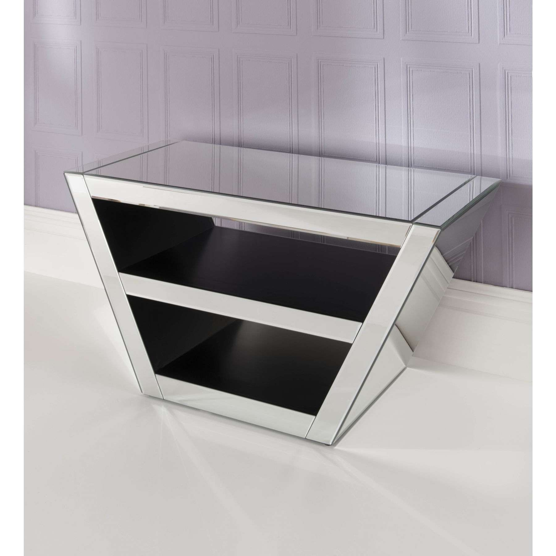 Mirrored Tv Cabinet | Venetian Glass Tv Stand | Homesdirect365 Pertaining To Glass Tv Cabinets (View 13 of 20)