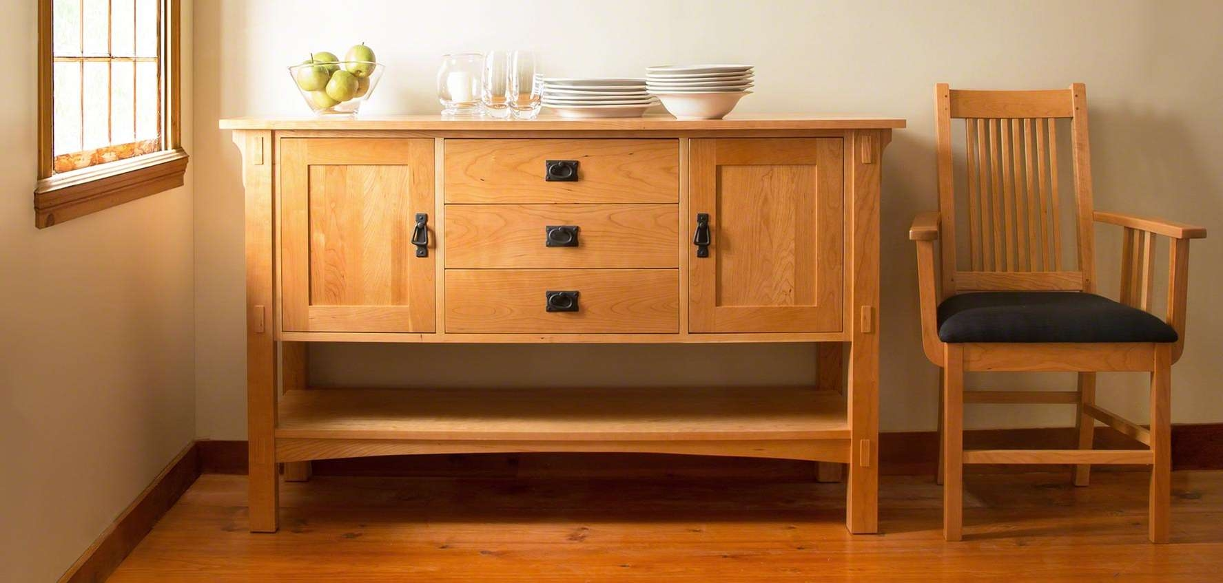 Mission & Craftsman Buffets – Vermont Woods Studios Within Mission Sideboards (View 6 of 20)