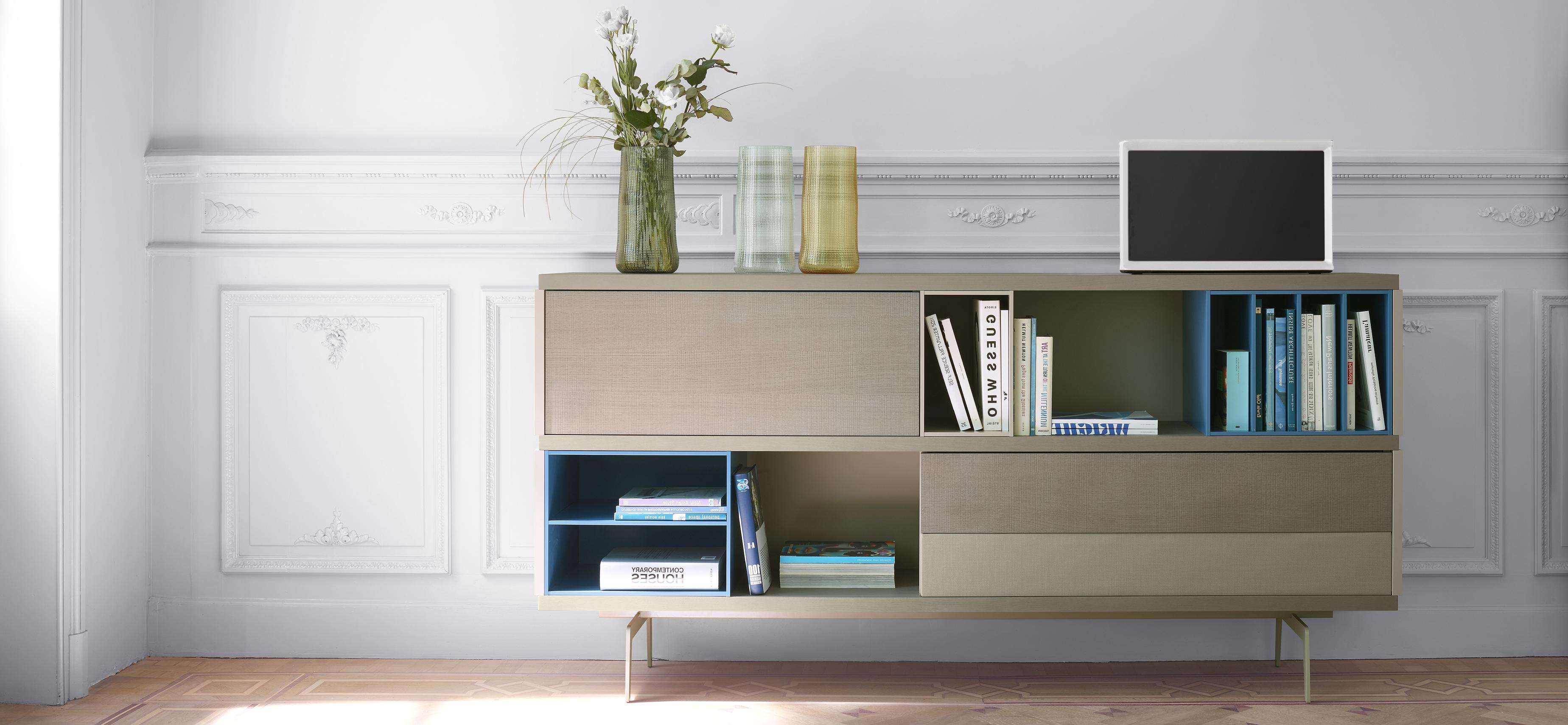 Mixte Living Room, Sideboards Designer : Mauro Lipparini | Ligne Roset Within Living Room Sideboards (View 11 of 20)