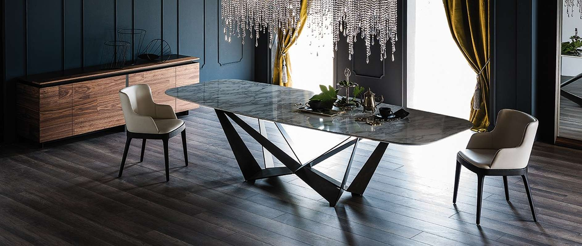 Modern Dining Room Furniture – Modern Dining Tables, Dining Chairs Throughout Dining Room Sets With Sideboards (View 18 of 20)