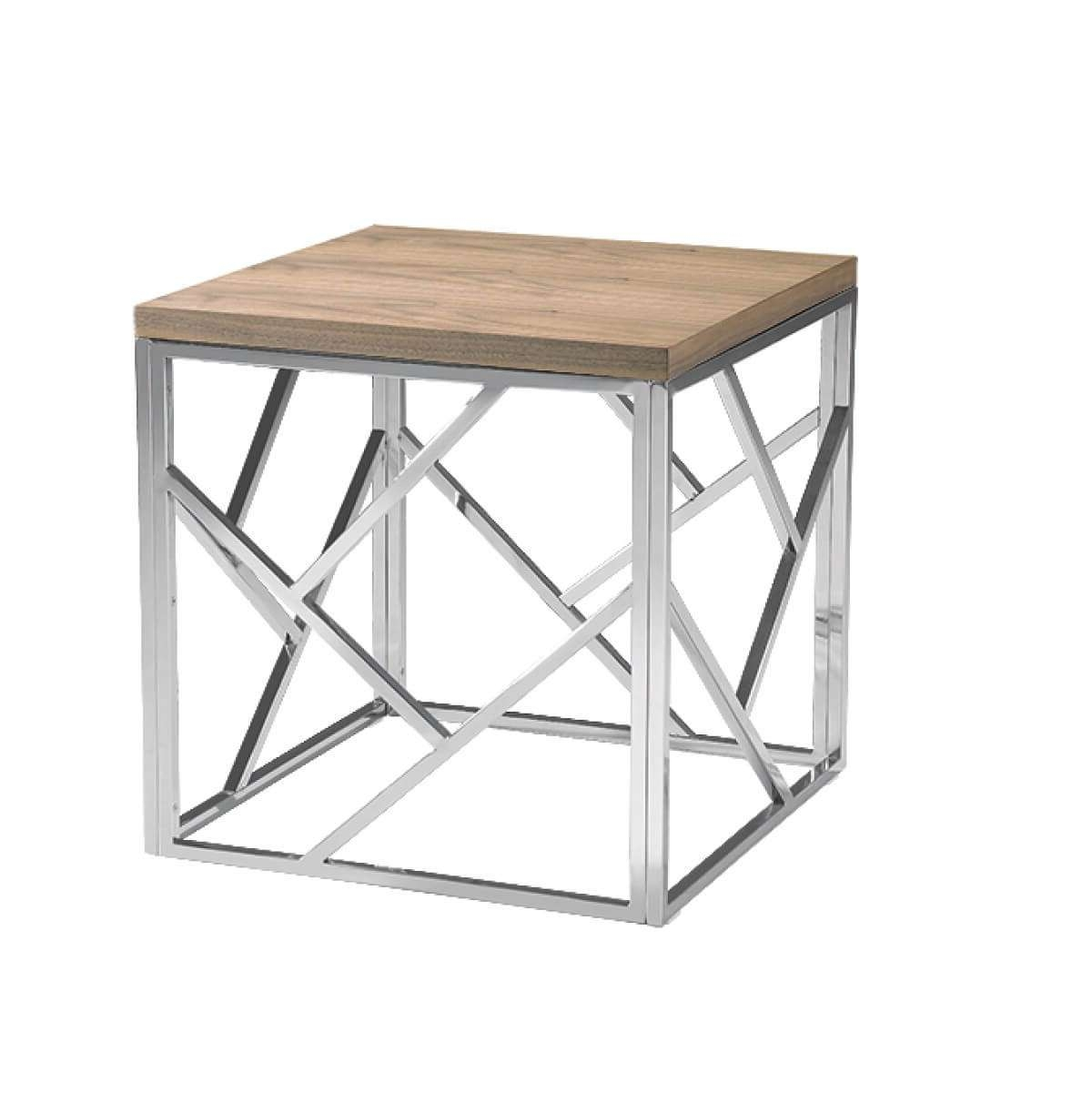 Modern Furniture • Brickell Collection Regarding Most Current Wood Chrome Coffee Tables (View 9 of 20)