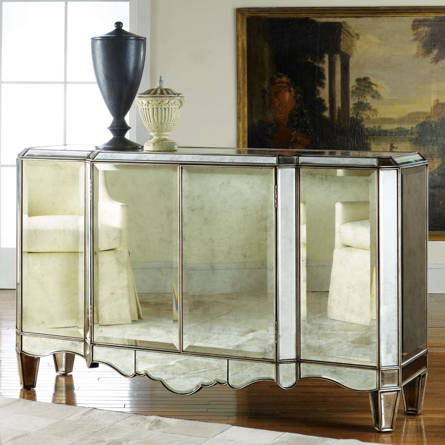 Modern History Home Mirrored Sideboard Inside Mirror Sideboards (View 13 of 20)