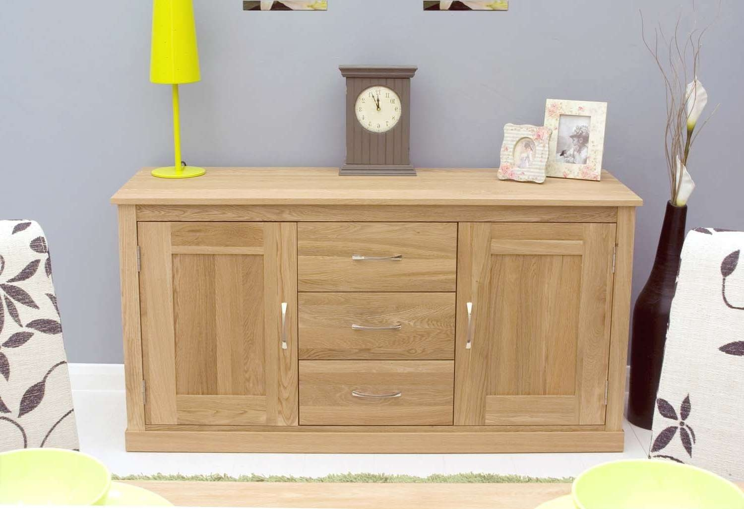 Modern Light Oak Sideboards And Console Table | Solid Oak Throughout Sideboards Furniture (View 9 of 20)