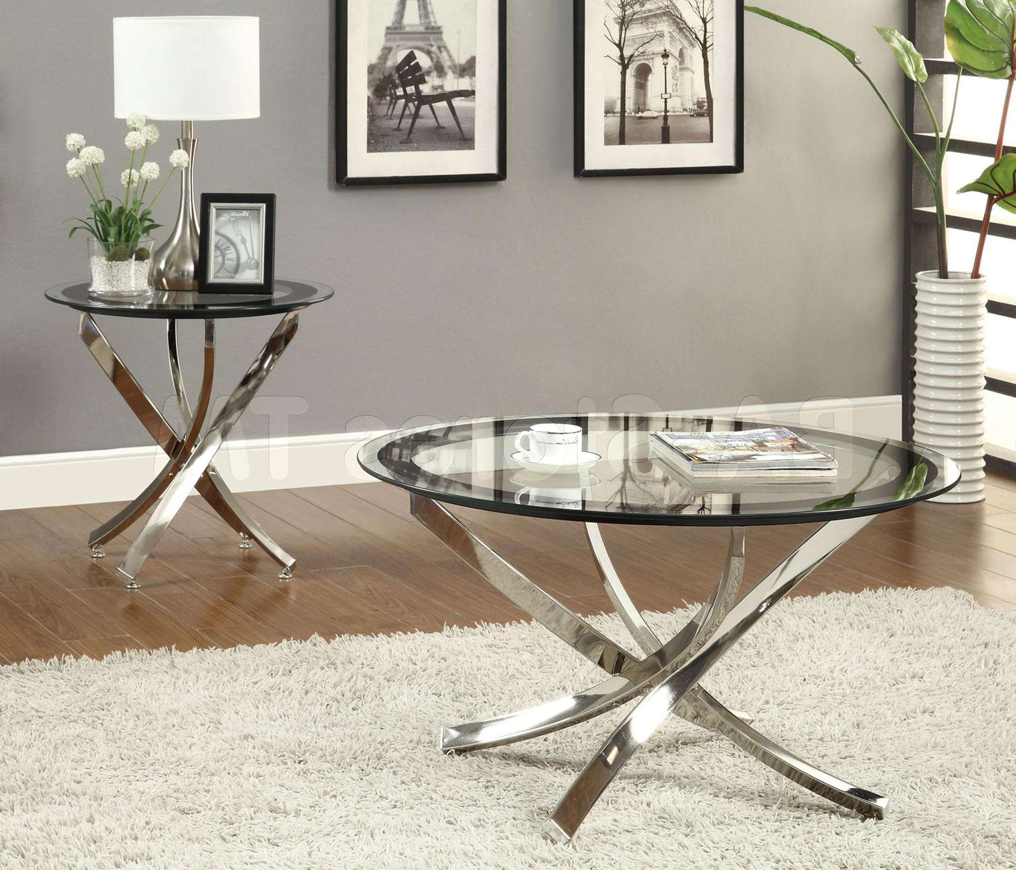 Modern Minimalist Living Room Design With Small Oval Glass Top Within Most Up To Date Glass Steel Coffee Tables (View 6 of 20)