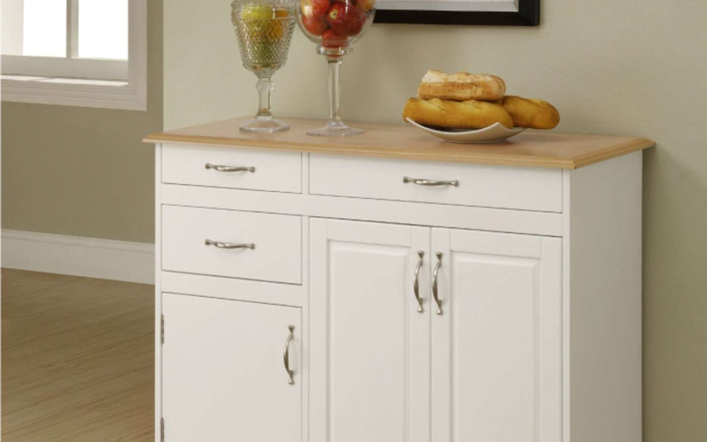 Modern Sideboard Buffet With Glass Doors Tags : Sideboard Tables In Narrow Kitchen Sideboards (View 2 of 20)