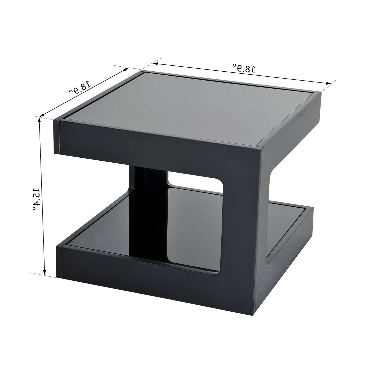 Modern Square Cube Coffee Side Sofa End Table W/ Glass Top Living Throughout Trendy White Cube Coffee Tables (View 12 of 20)