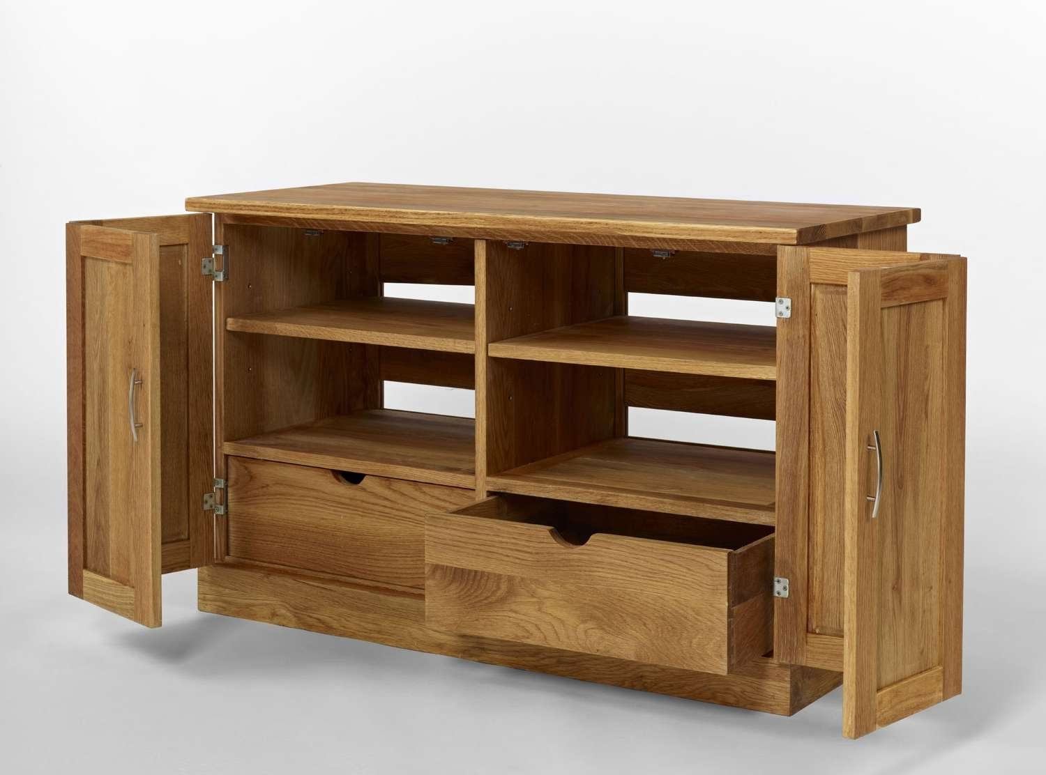 Modern Tv Cabinets Remarkable 18 Brooklyn Contemporary Oak With Regard To Widescreen Tv Cabinets (View 14 of 20)
