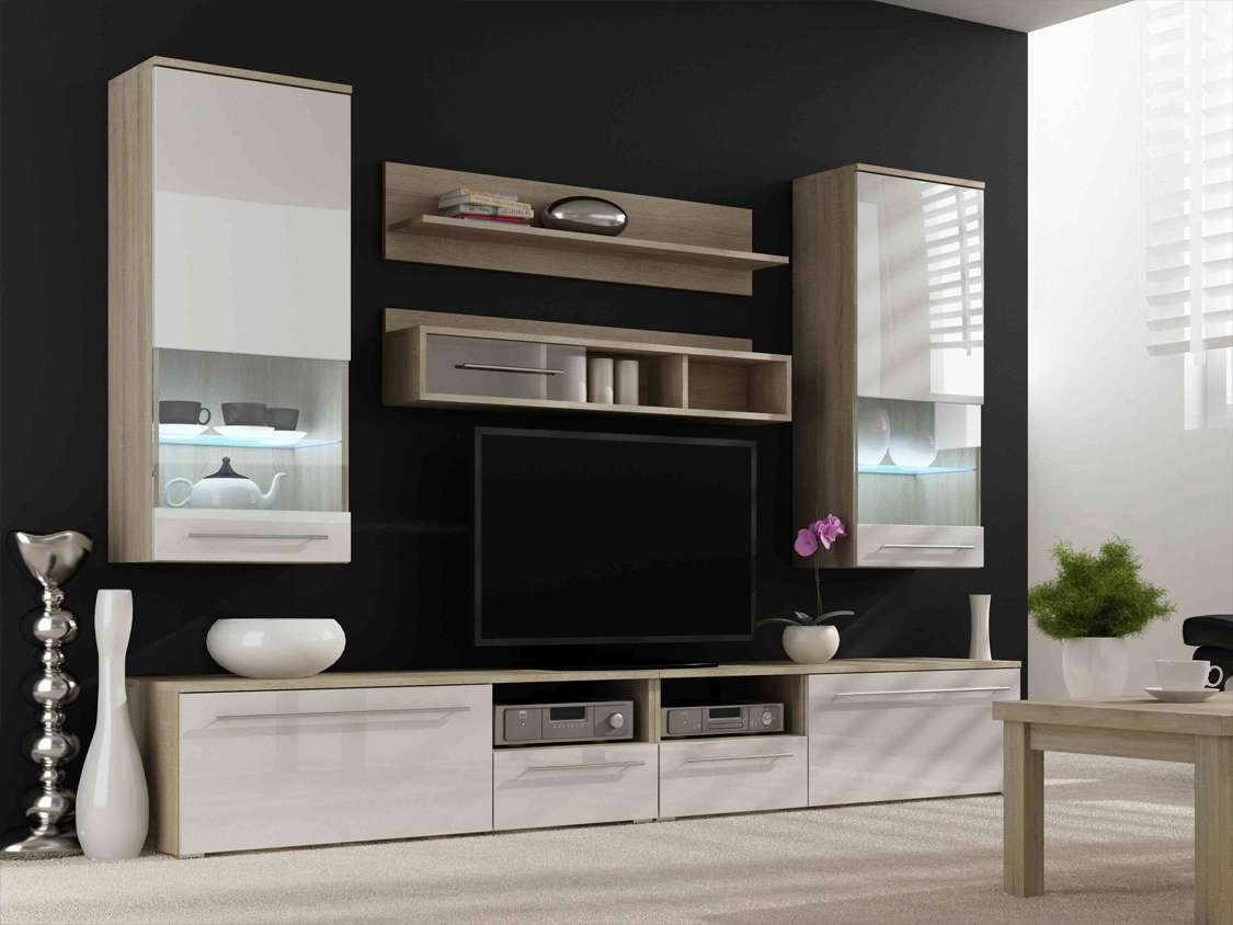 Modern Wall Units Shelving Tv Stands High Gloss Regarding Contemporary