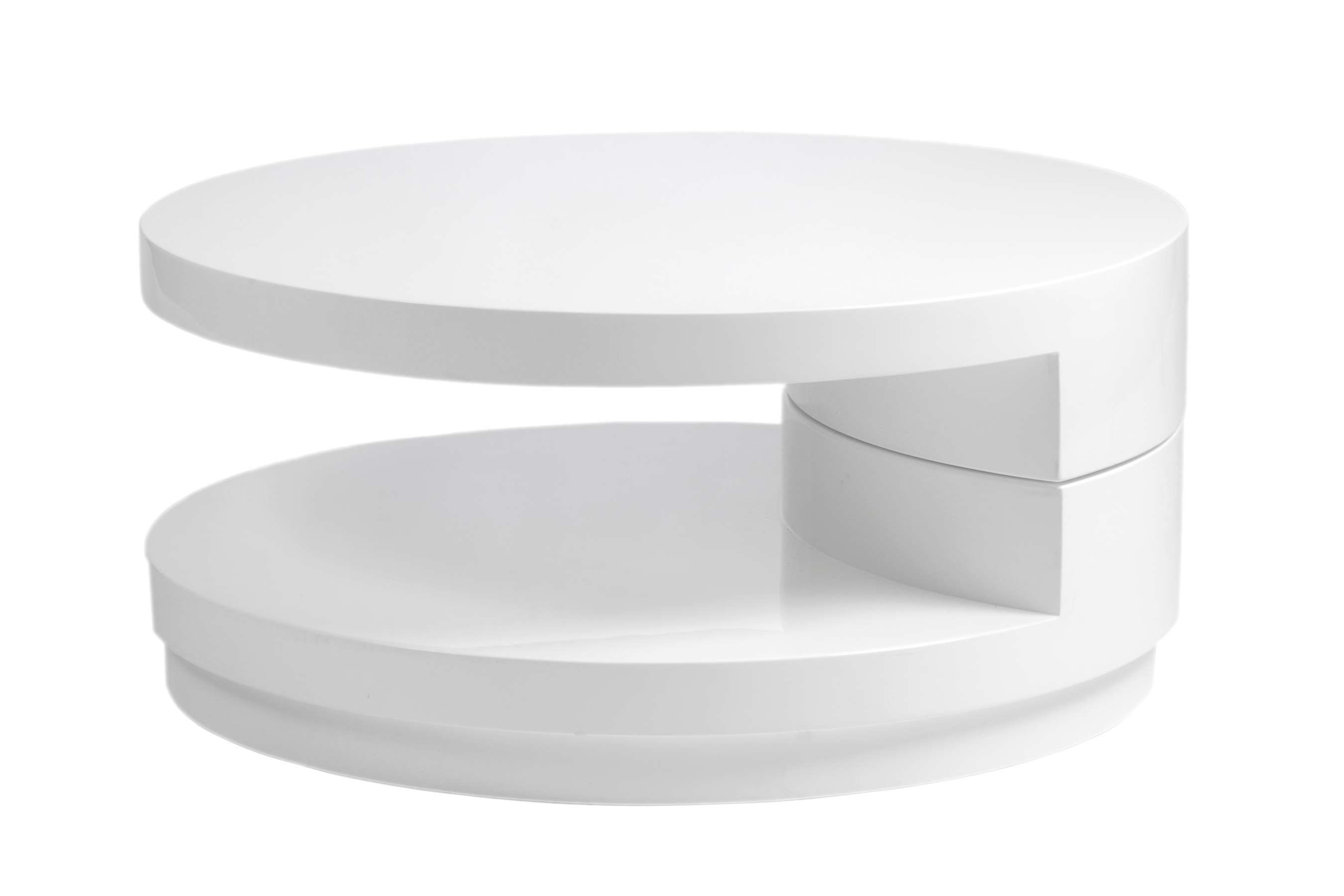 Modern White Coffee Table For Inspiration : Home Design Intended For Trendy Round High Gloss Coffee Tables (View 6 of 20)