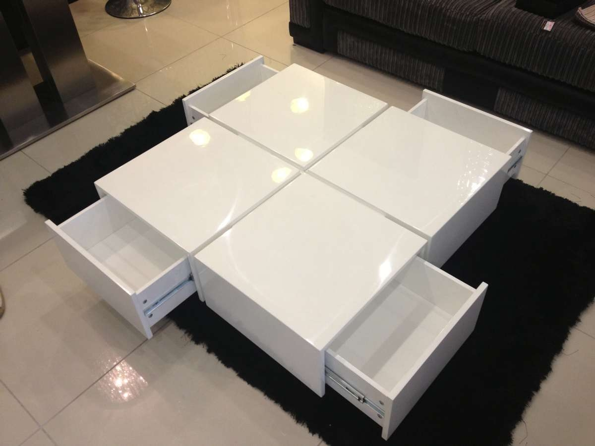 Modern White Side Table Tags : Dazzling Coffee Table Sets Regarding Famous Round High Gloss Coffee Tables (View 7 of 20)
