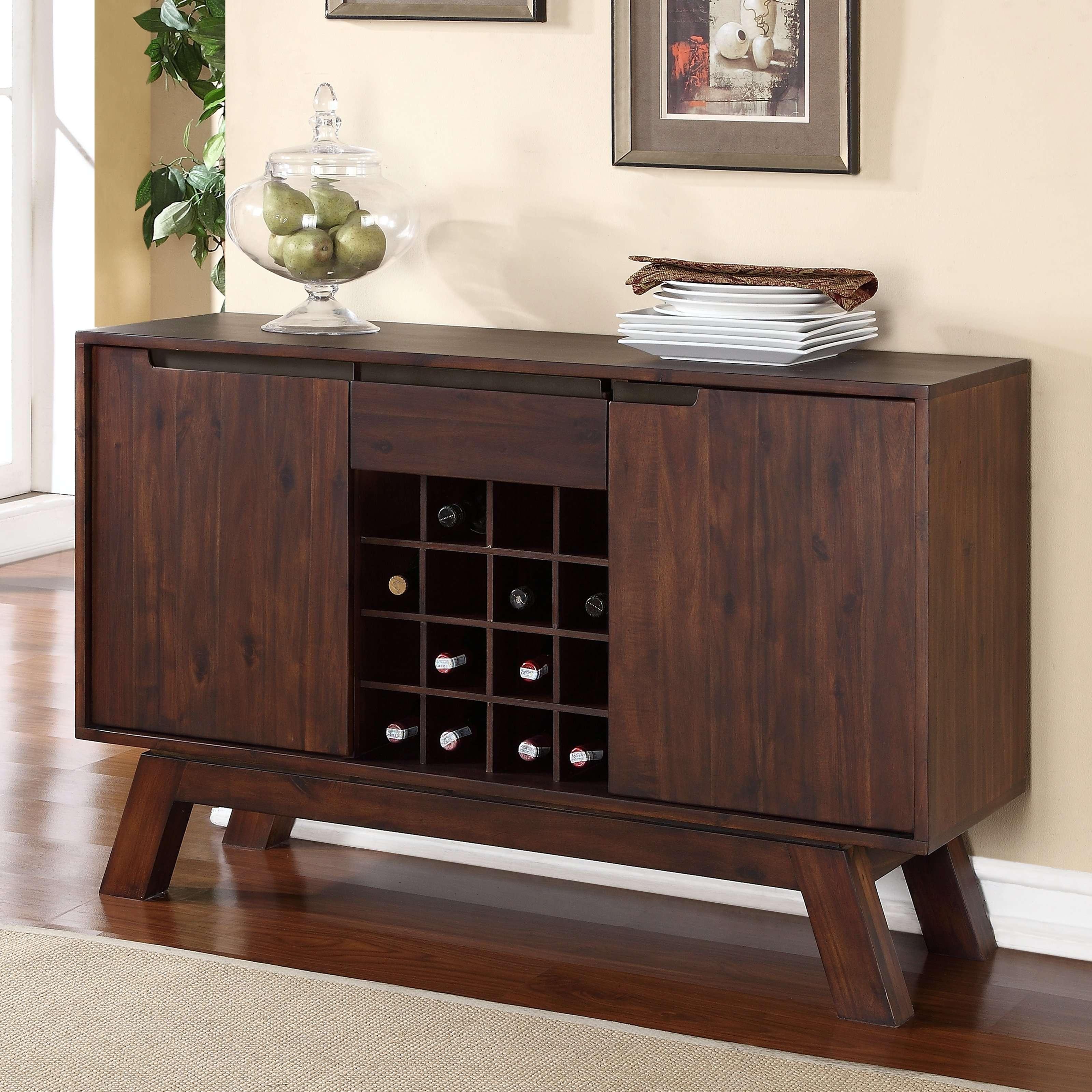 Modus Portland Solid Wood Sideboard – Medium Walnut | Hayneedle Within Solid Wood Sideboards (View 11 of 20)