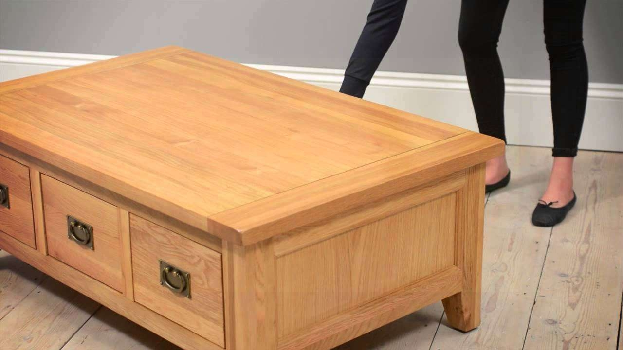 Montague Oak Lift Top Coffee Table – The Cotswold Company – Youtube Throughout 2018 Lift Top Oak Coffee Tables (View 3 of 20)