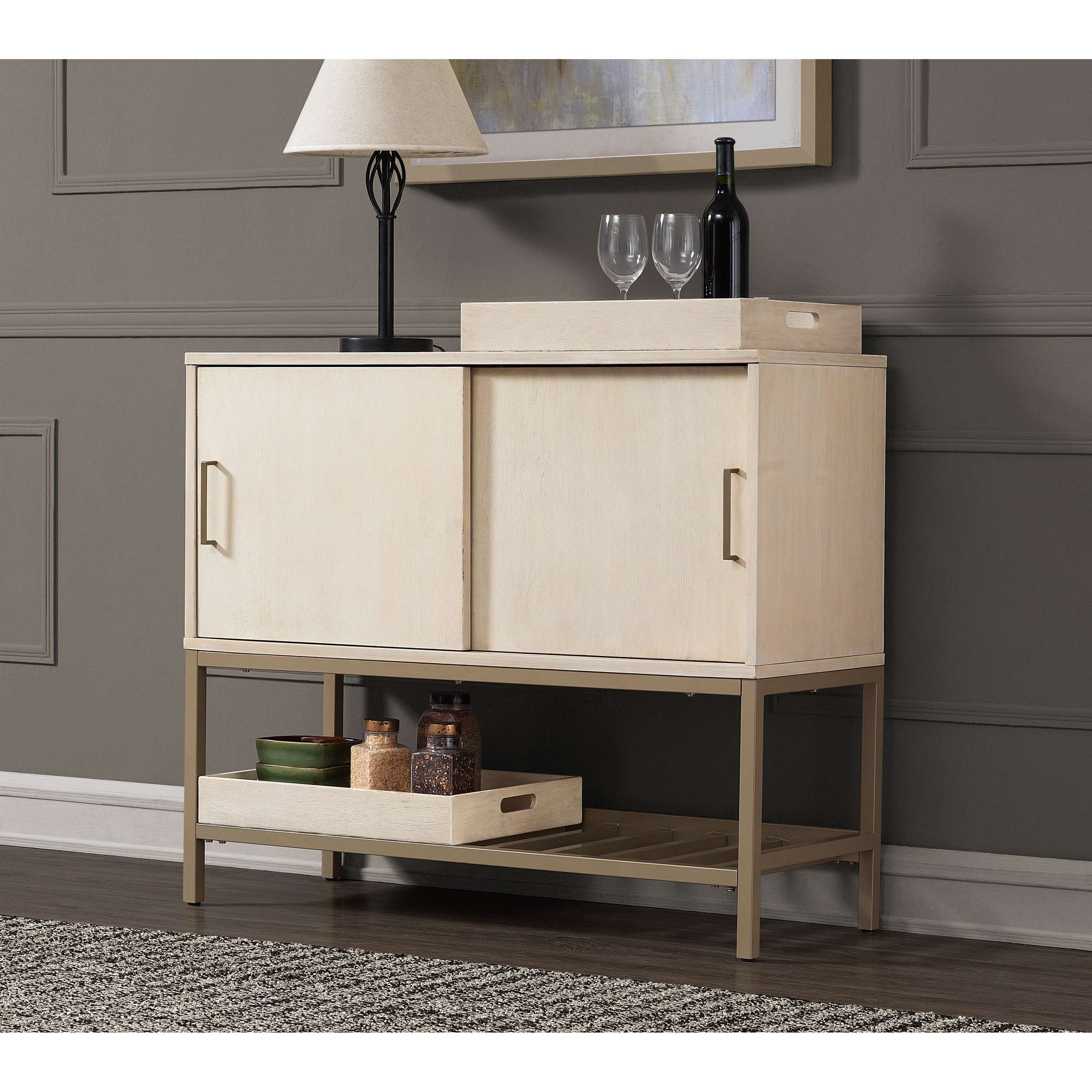 Moonlight 42 Inch Buffet – Free Shipping Today – Overstock Inside 42 Inch Sideboards (View 12 of 20)