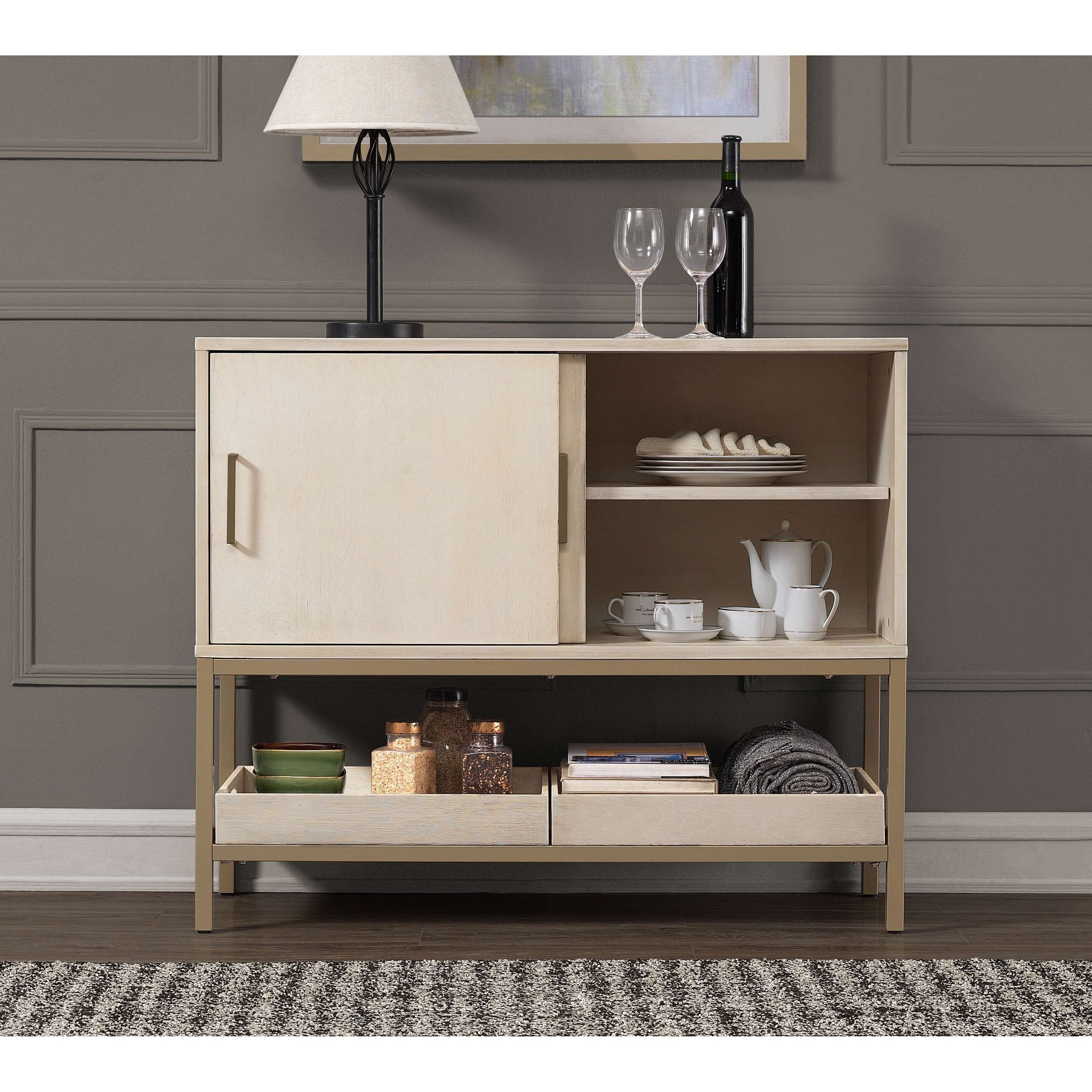 Moonlight 42 Inch Buffet – Free Shipping Today – Overstock Throughout 42 Inch Sideboards (View 6 of 20)