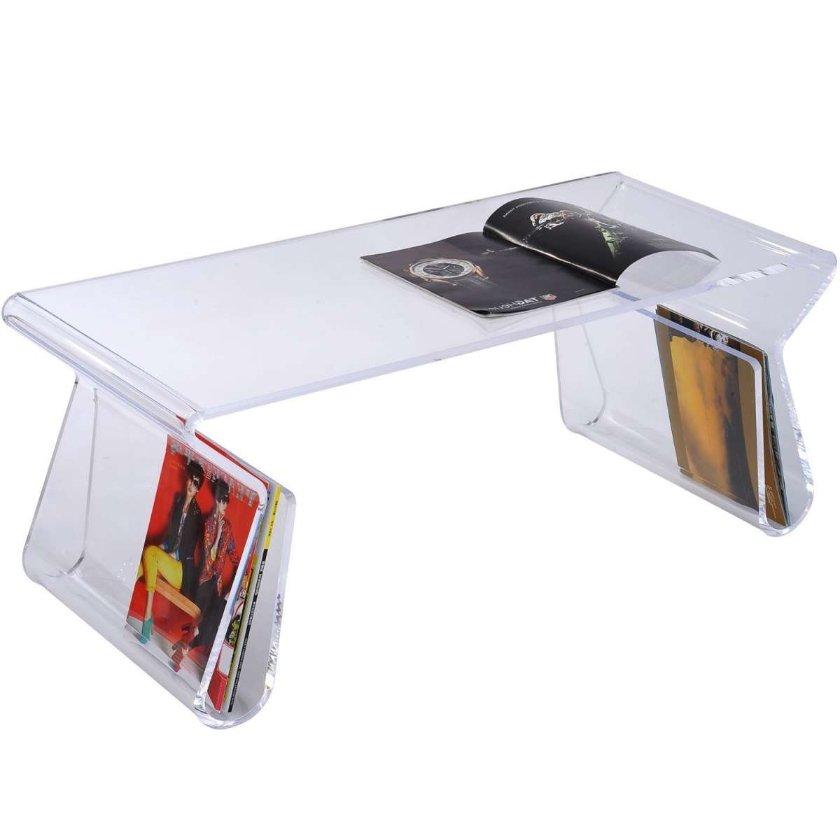 Most Current Acrylic Coffee Tables With Magazine Rack Pertaining To Coffee Tables : Astonishing Table With Storage Cocktail Coffee (View 15 of 20)
