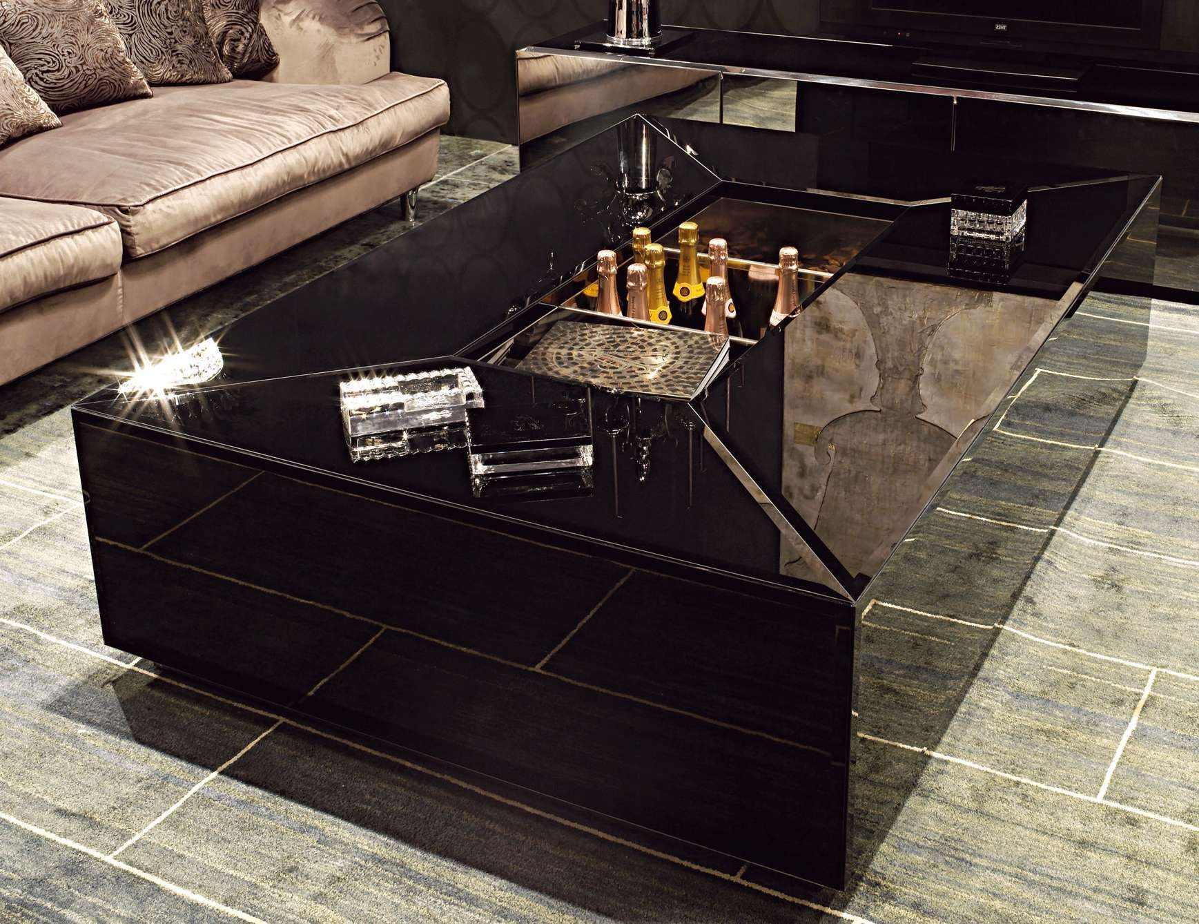 Most Current Big Black Coffee Tables With Nella Vetrina Visionnaire Ipe Cavalli Pelleas Italian Coffee Table (View 7 of 20)