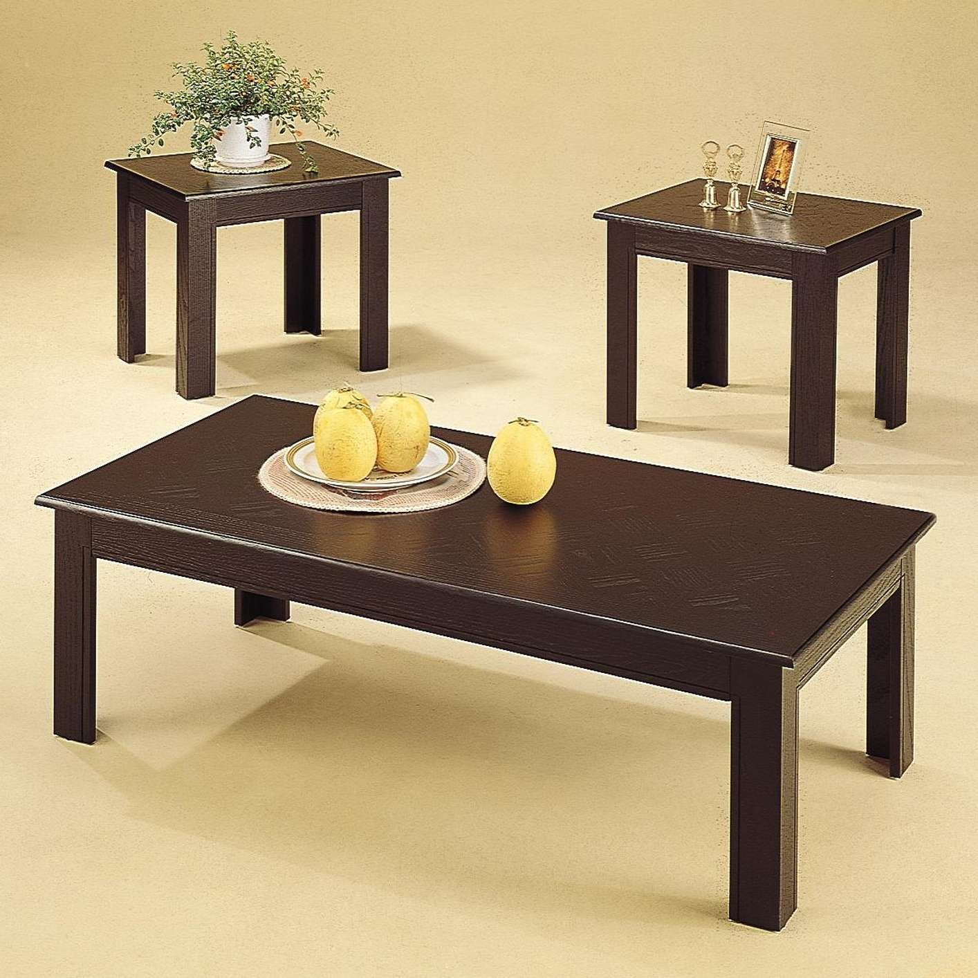 Most Current Black Wood Coffee Tables Inside Acosta Black Wood Coffee Table Set – Steal A Sofa Furniture Outlet (View 12 of 20)