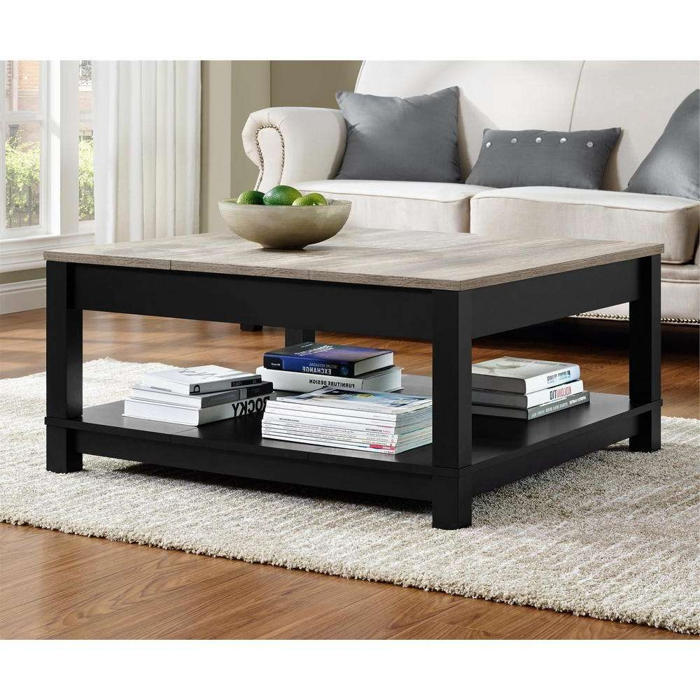 Most Current Black Wood Coffee Tables Regarding Ameriwood Home Viola Matte Black Storage Coffee Table Hd (View 13 of 20)