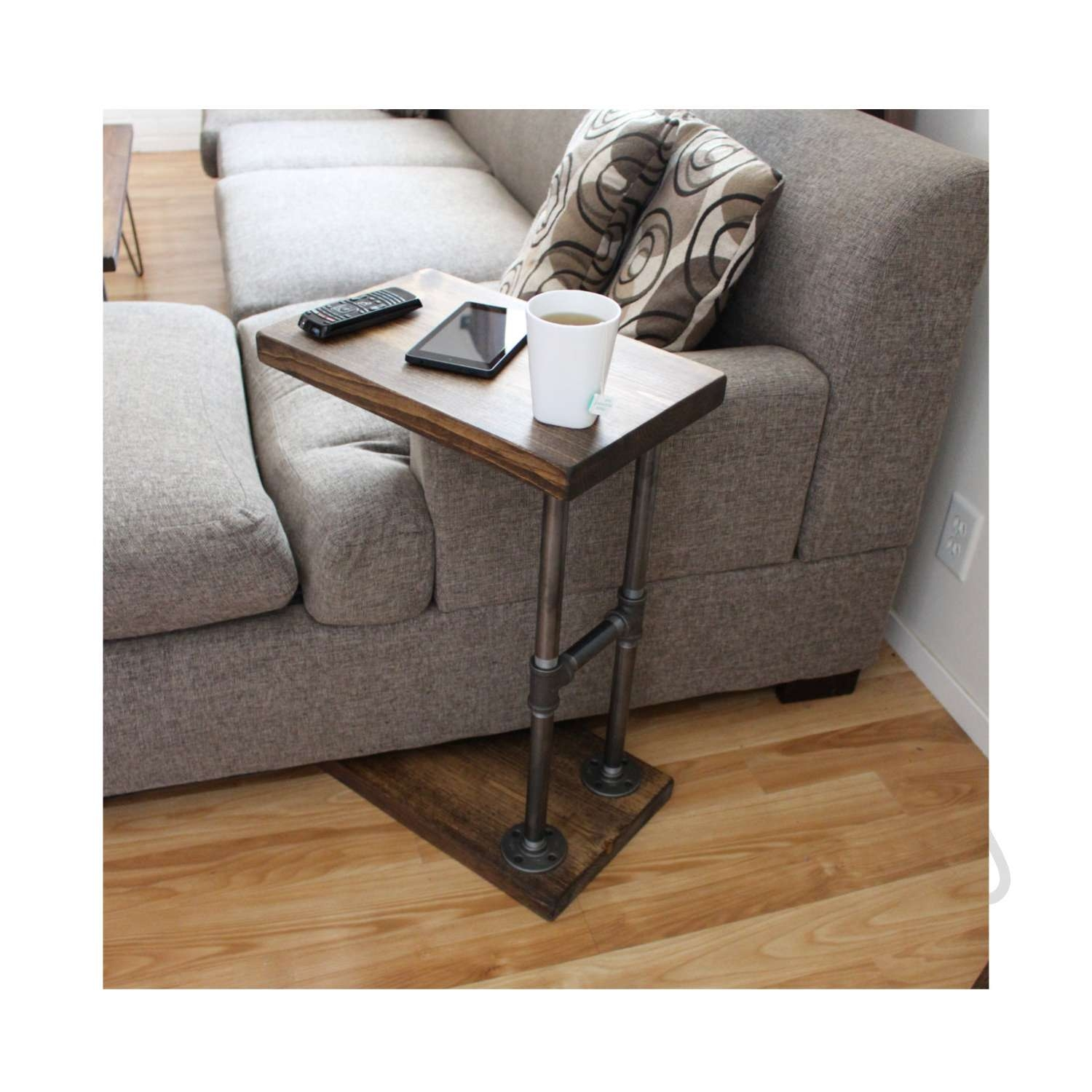 Most Current C Coffee Tables Regarding Industrial Furniture Coffee Table Side Table Laptop Stand (View 11 of 20)