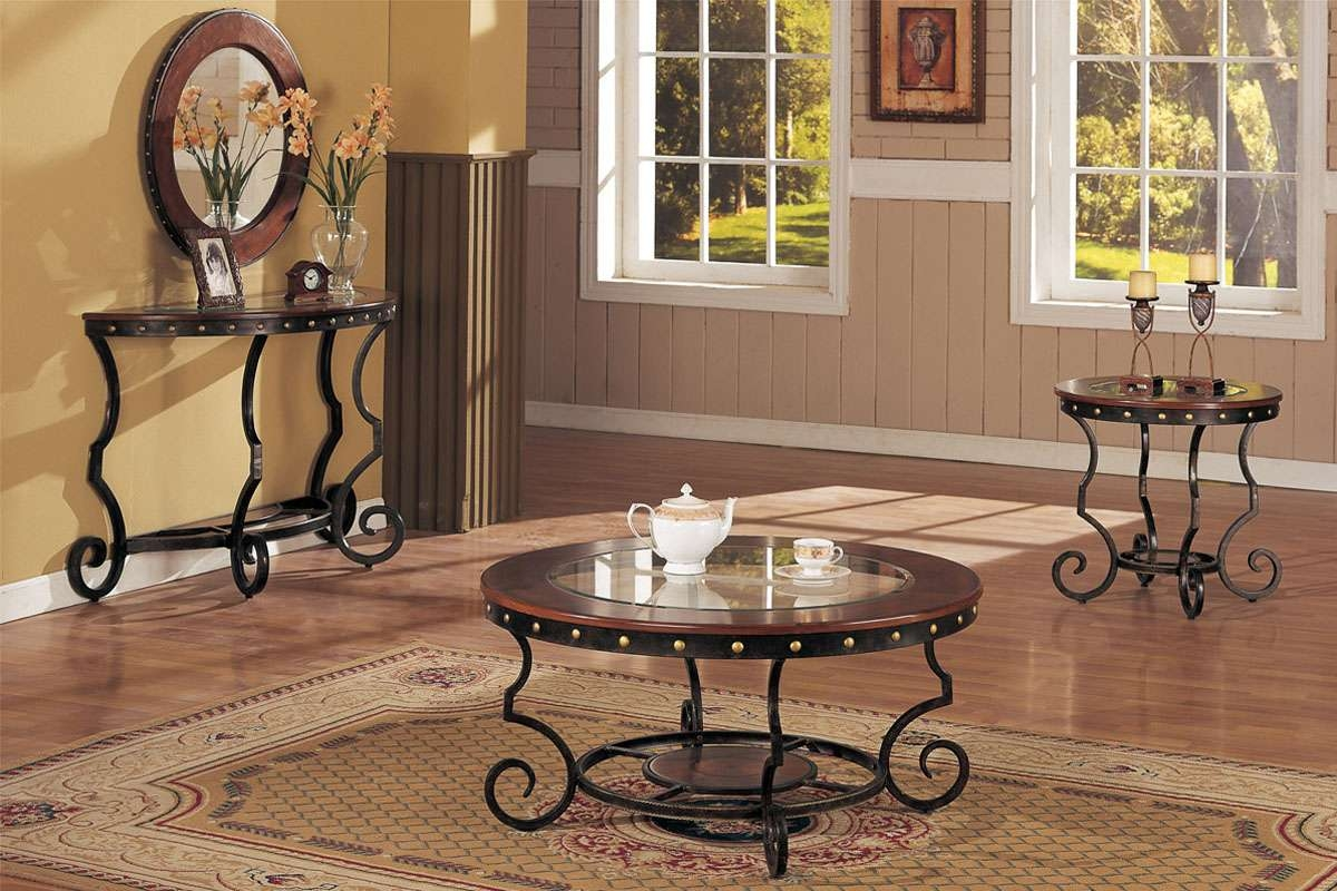 Most Current Coffee Table With Matching End Tables Pertaining To Coffee Table And Matching End And Consol Tables, Round (View 12 of 20)