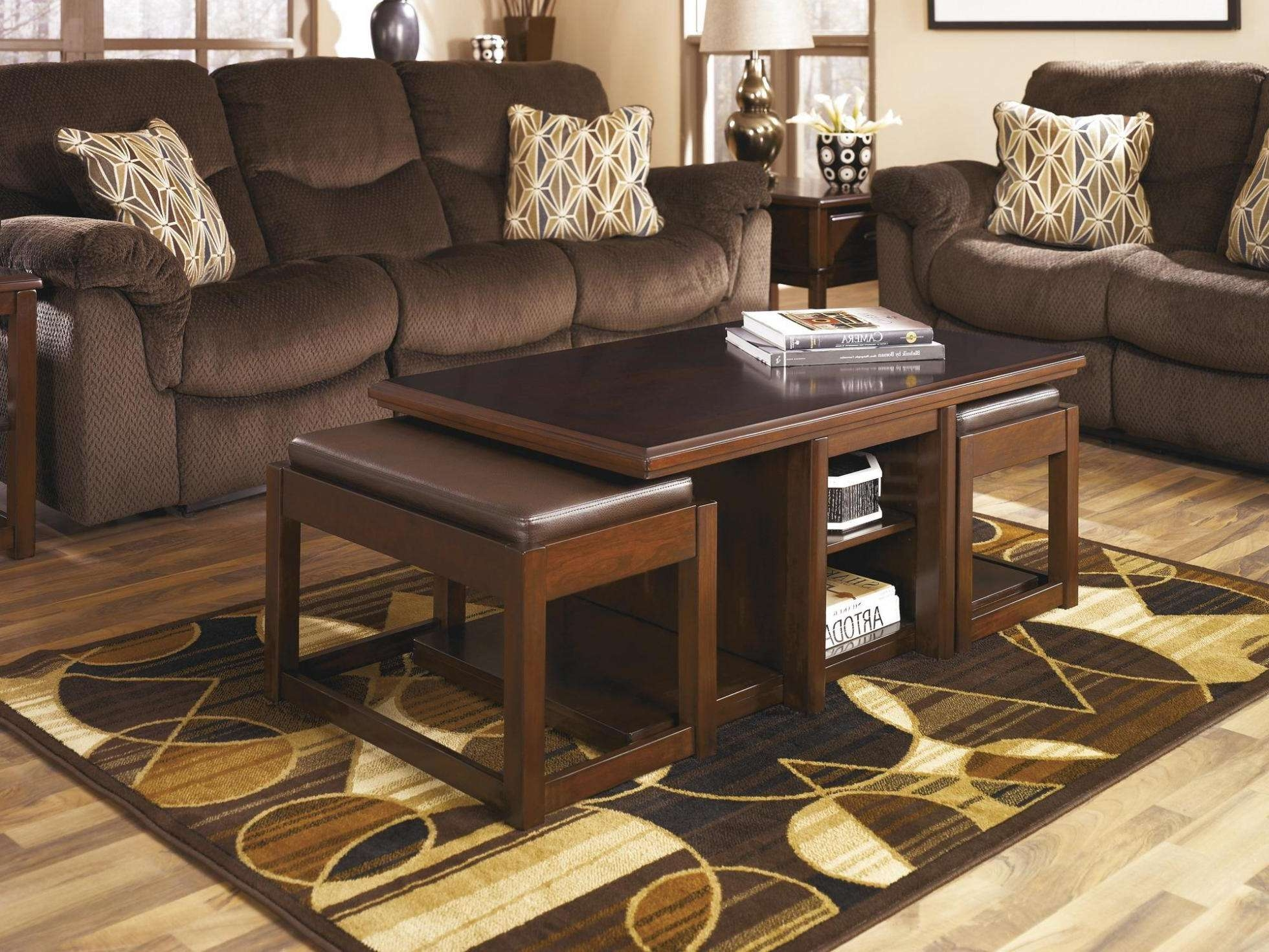 Most Current Coffee Table With Stools Within Furniture (View 10 of 20)