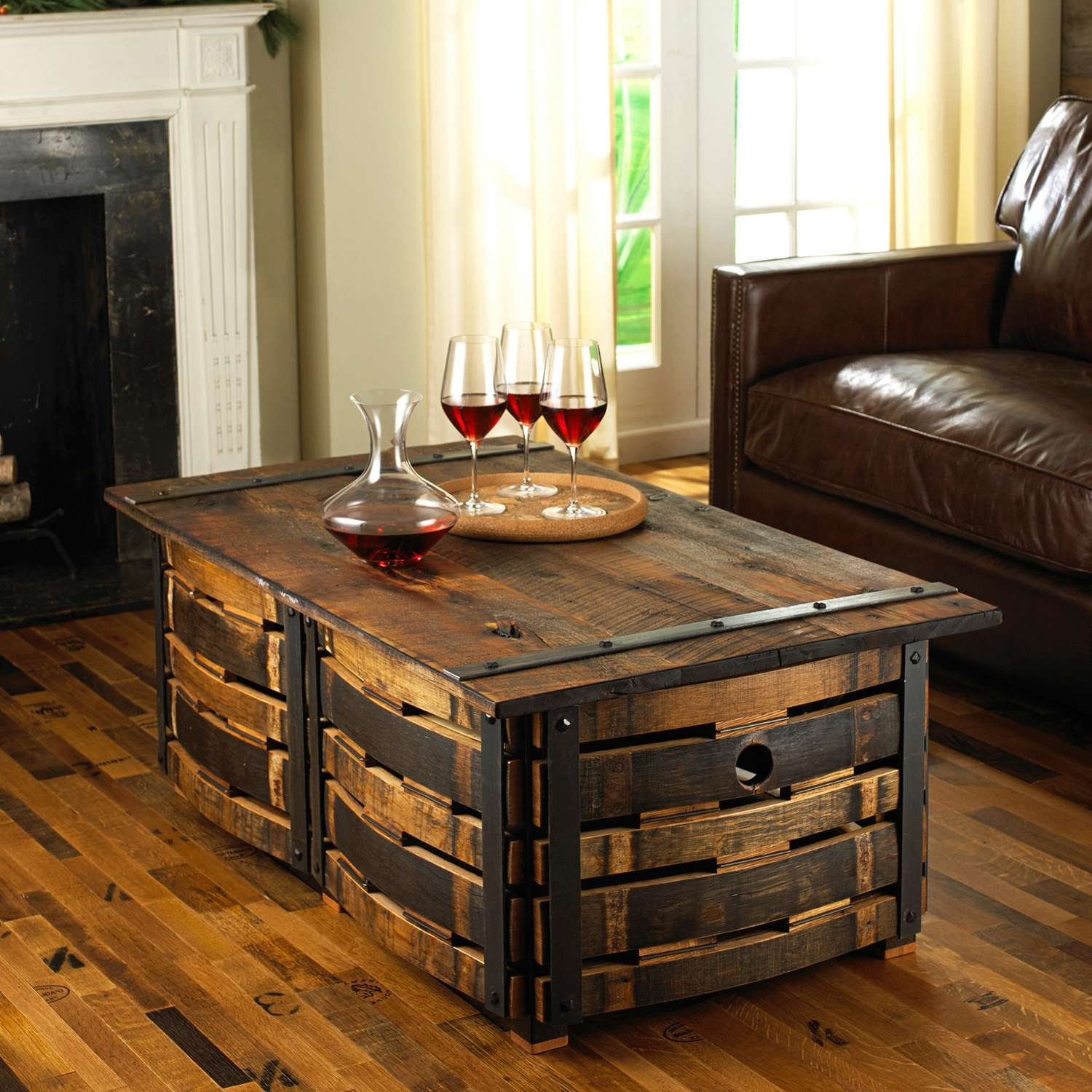Most Current Coffee Tables With Box Storage Inside Coffee Tables : Simple Creative Of Wine Barrel Coffee Table With (View 8 of 20)