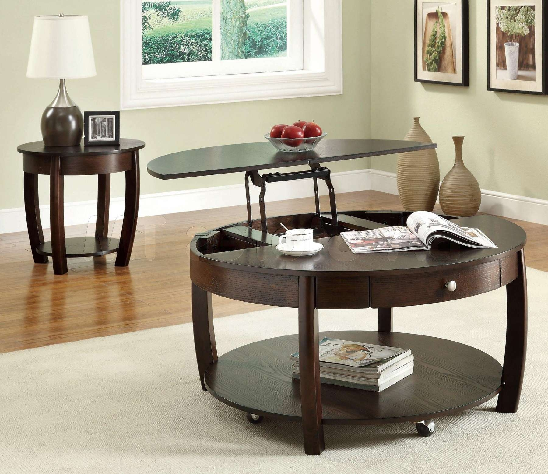 Most Current Coffee Tables With Lift Up Top Inside Round Lift Top Coffee Table (View 14 of 20)