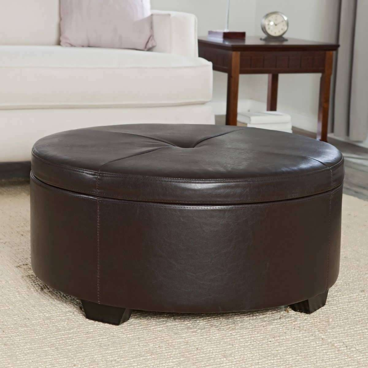 Most Current Coffee Tables With Seating And Storage Regarding Coffee Tables : Astonishing Storage Ottoman Black Brown Coffee (View 9 of 20)