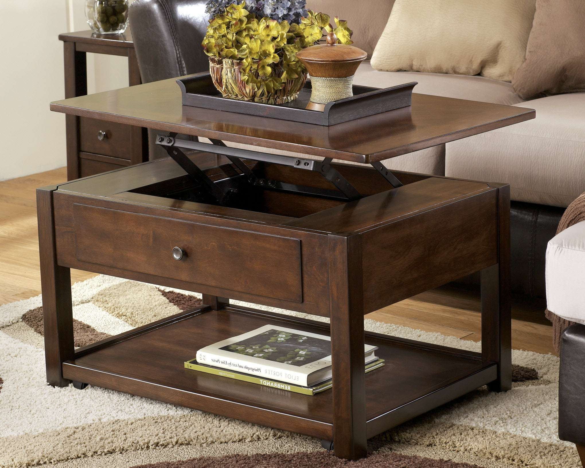 Most Current Elevating Coffee Tables In Coffee Tables : Coffee Table Smaller Wood Lift Top Ana White Diy (View 14 of 20)