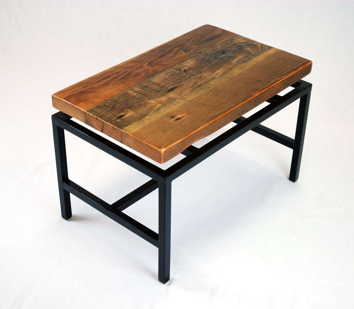 Most Current Industrial Coffee Tables With Regard To Handmade Floating Top Industrial Coffee Table In Reclaimed Fir (View 17 of 20)