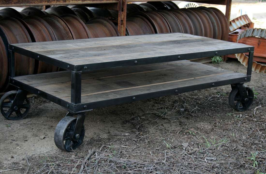 Most Current Industrial Style Coffee Tables With Combine  (View 12 of 20)