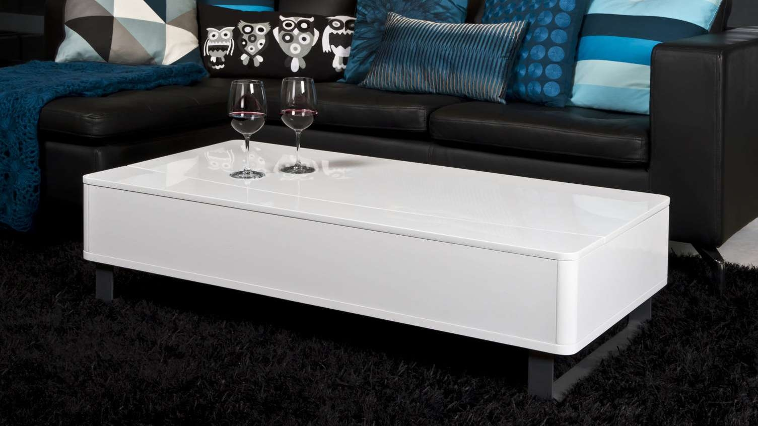Most Current Large Low White Coffee Tables Pertaining To Low White Gloss Coffee Table (View 7 of 20)