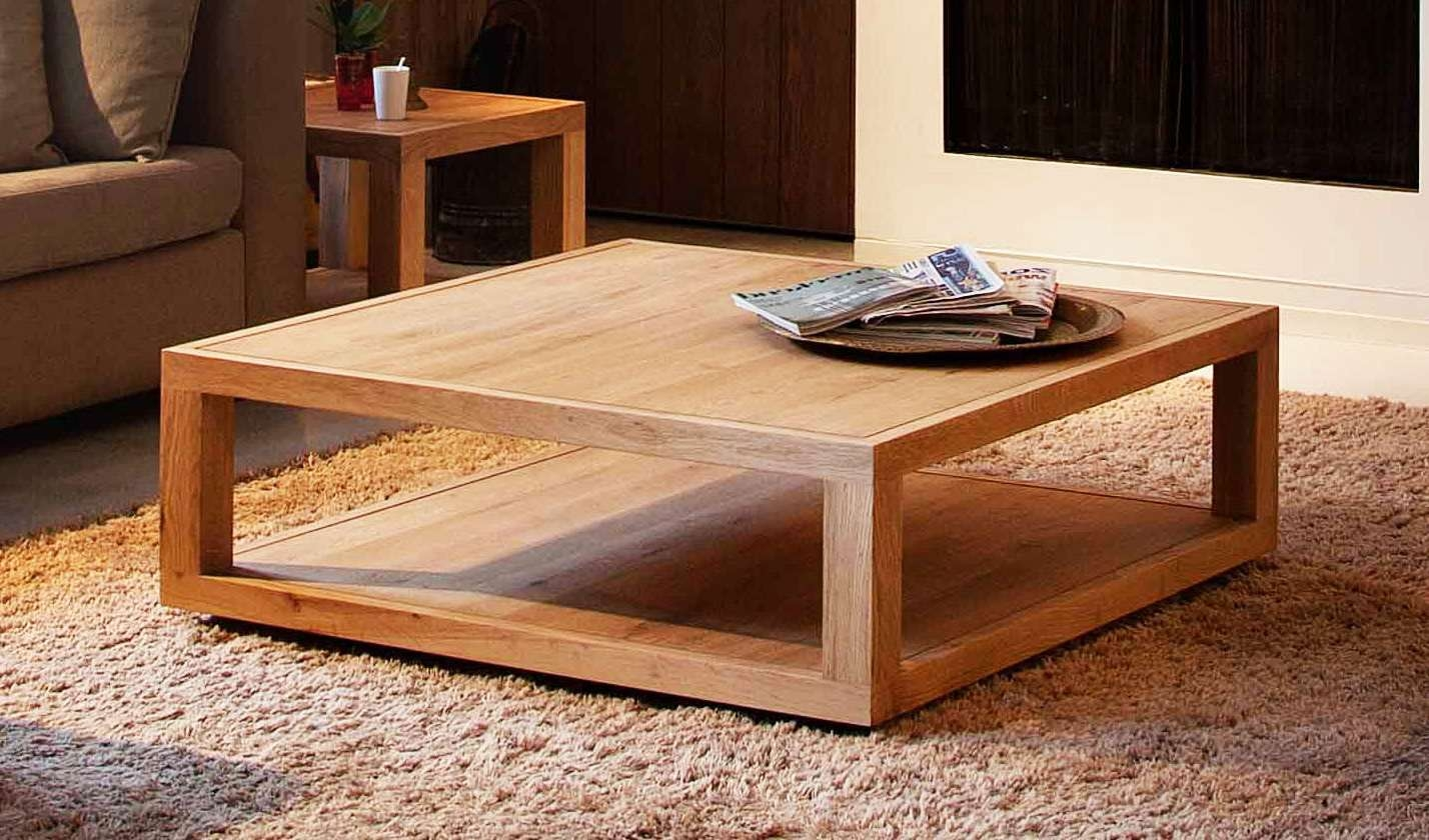 Most Current Large Square Coffee Tables With Regard To Coffee Tables : Beautiful Extra Large Square Coffee Table Wood (View 4 of 20)