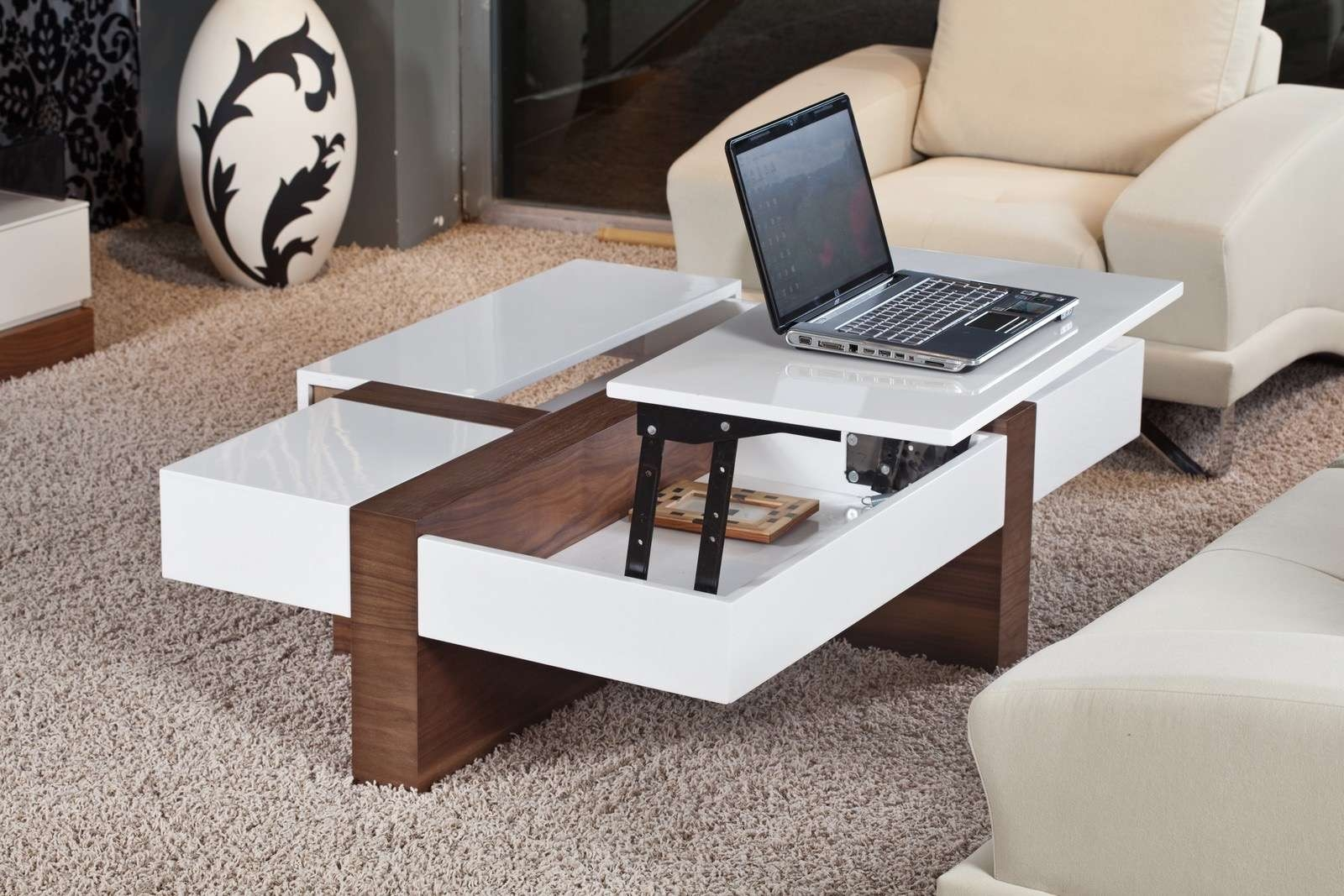 Most Current Lift Up Coffee Tables With Coffee Table, Coffee Table With Stools Underneath Home Design (View 8 of 20)