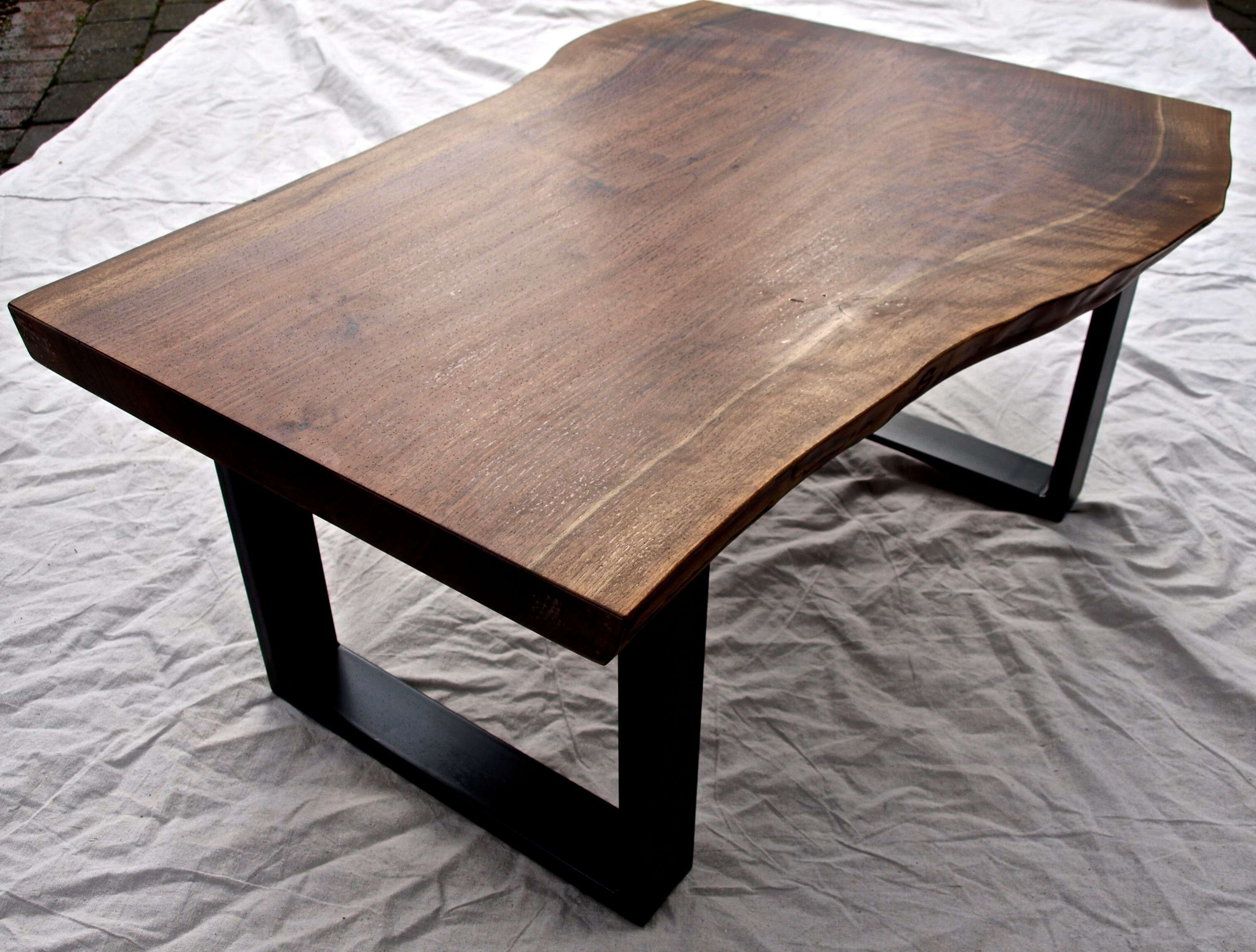 Most Current Live Edge Coffee Tables Throughout Hand Crafted Live Edge Walnut Coffee Tablewitness Tree Studios (View 4 of 20)