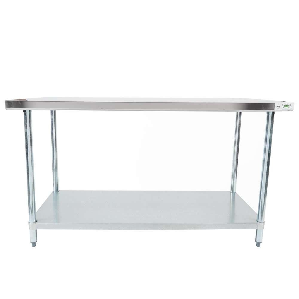 "Most Current Mands Coffee Tables Regarding Regency 30"" X 60"" 18 Gauge 304 Stainless Steel Commercial Work (View 14 of 20)"
