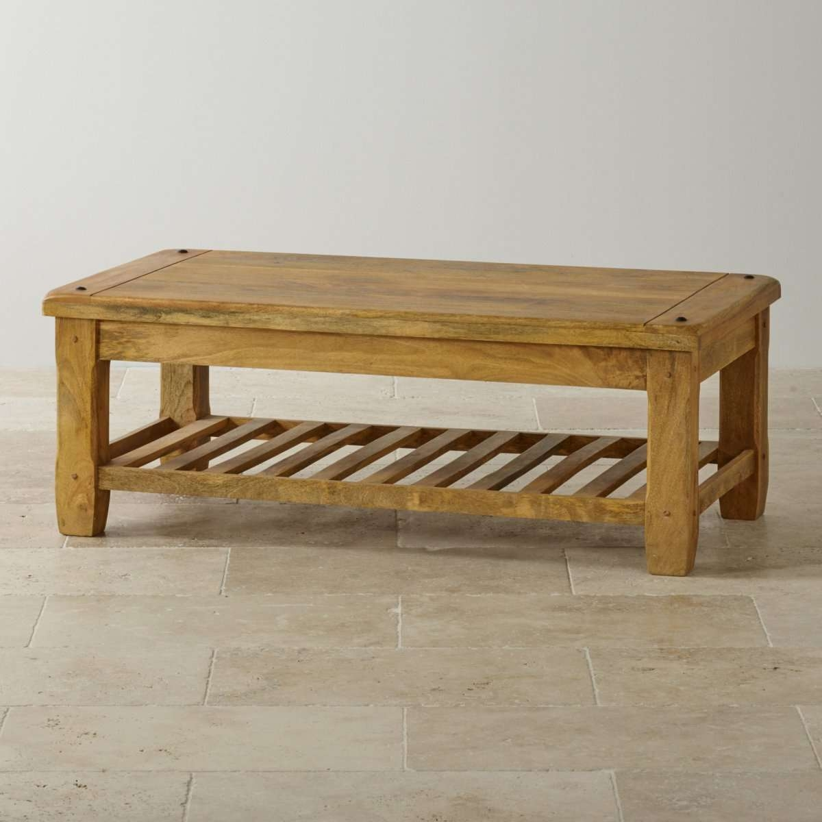 Most Current Mango Coffee Tables Regarding Baku Light Natural Solid Mango Coffee Tableoak Furniture Land (View 12 of 20)