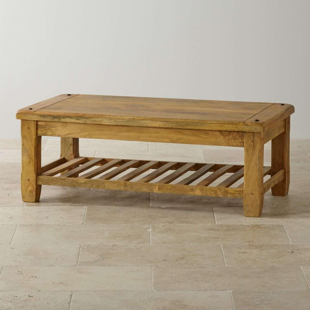Most Current Mango Coffee Tables Regarding Baku Light Natural Solid Mango Coffee Tableoak Furniture Land (View 12 of 20)