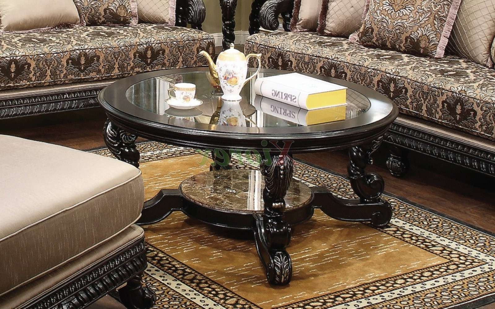 Most Current Marble And Glass Coffee Table Inside Alya Coffee Table Set Living Room Furniture Toronto (View 9 of 20)