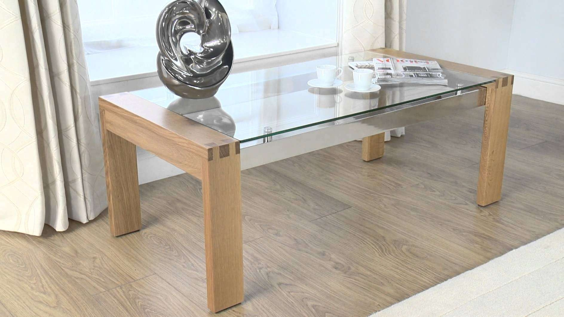 Most Current Oak Coffee Table With Glass Top In Coffee Table : Marvelous Small Glass Coffee Table Living Room (View 8 of 20)