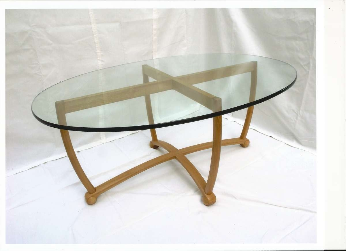 Most Current Oval Glass Coffee Tables Inside Oval Glass Top Coffee Table (View 8 of 20)